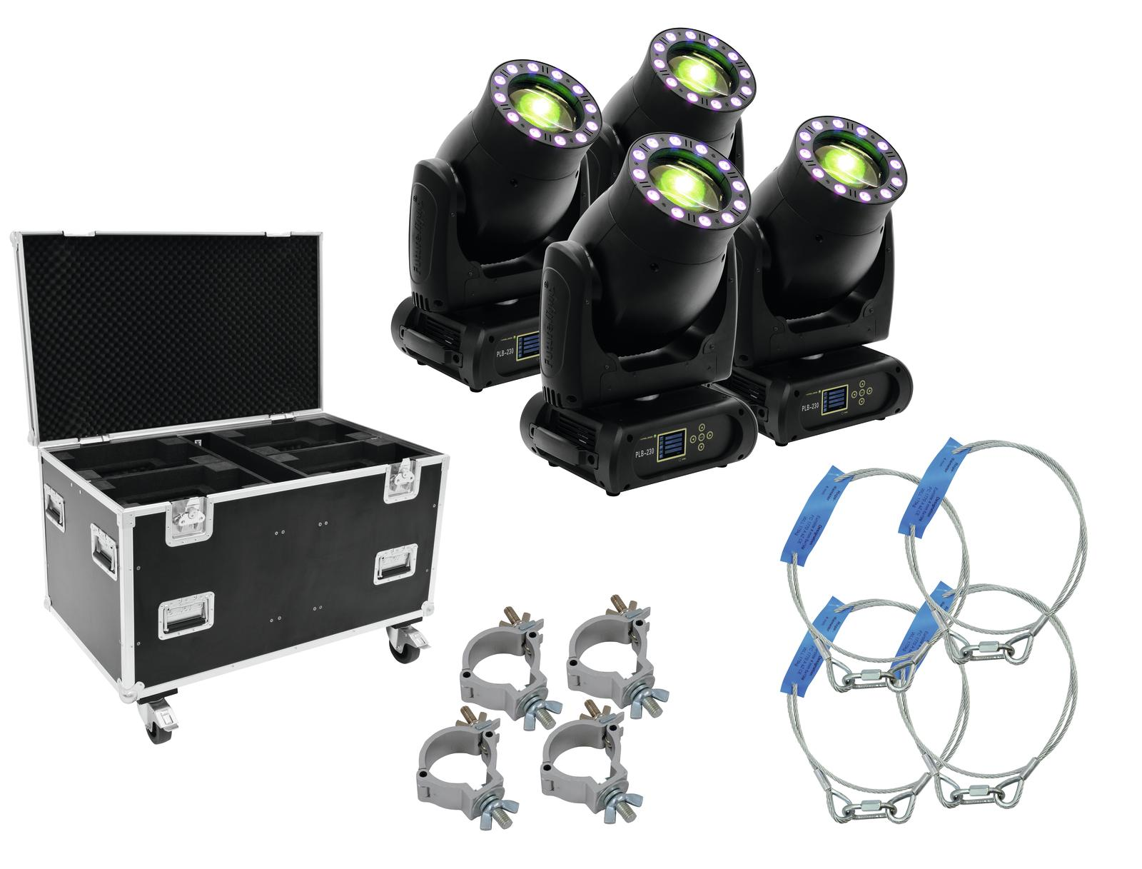 FUTURELIGHT Set 4x PLB-230 + caso