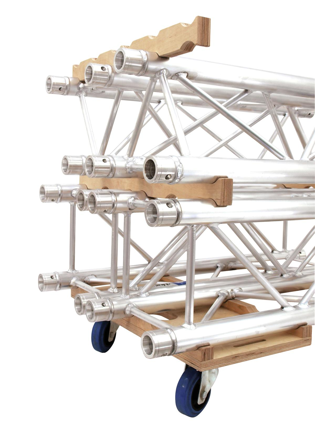 Set Composto da 8 Traverse Truss Americane 4 Vie da 2 MT e 2 Carrelli Alutruss
