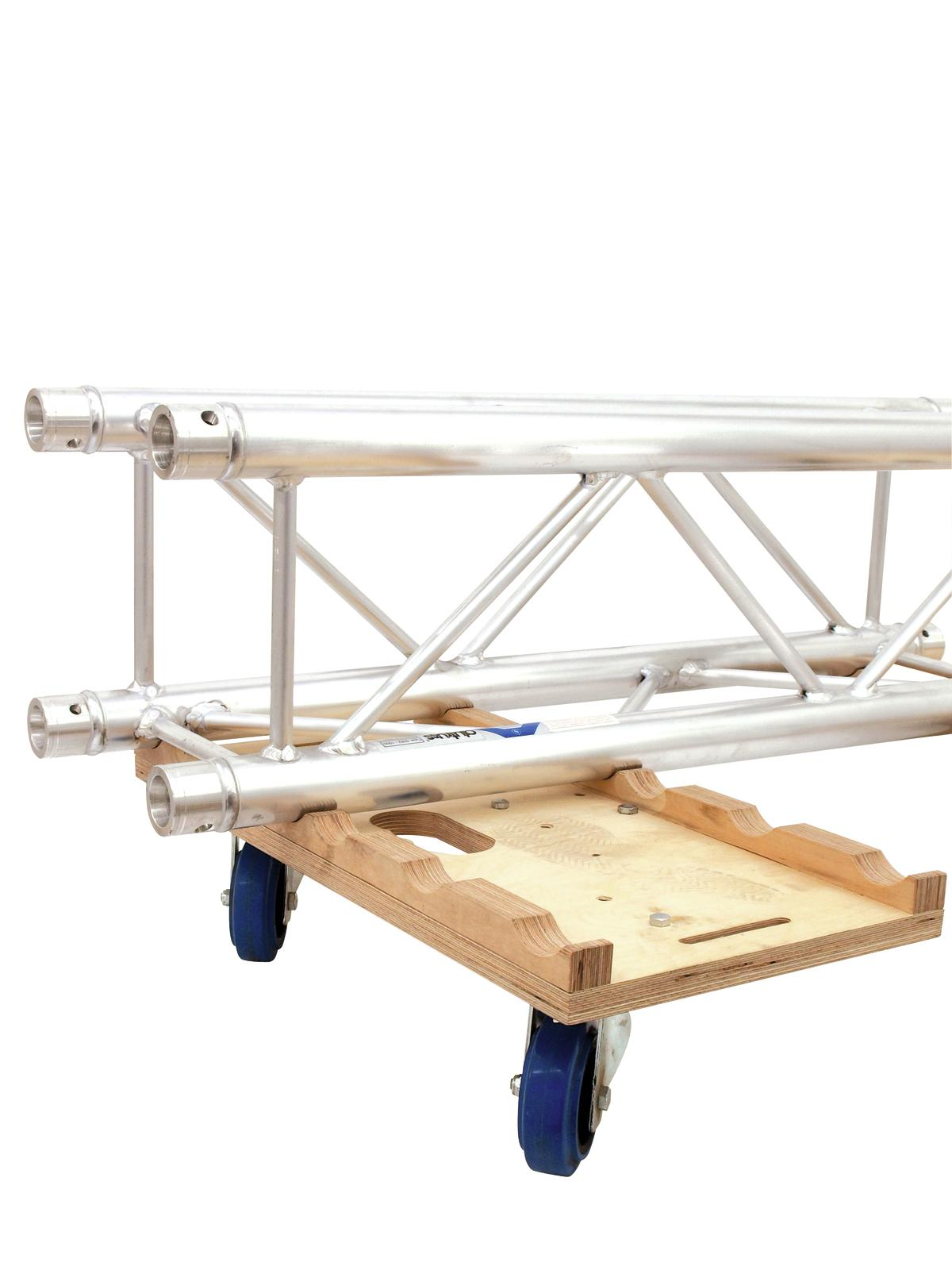 Set Composto da 8 Traverse Truss Americane 3 Vie da 2 MT e 2 Carrelli Alutruss