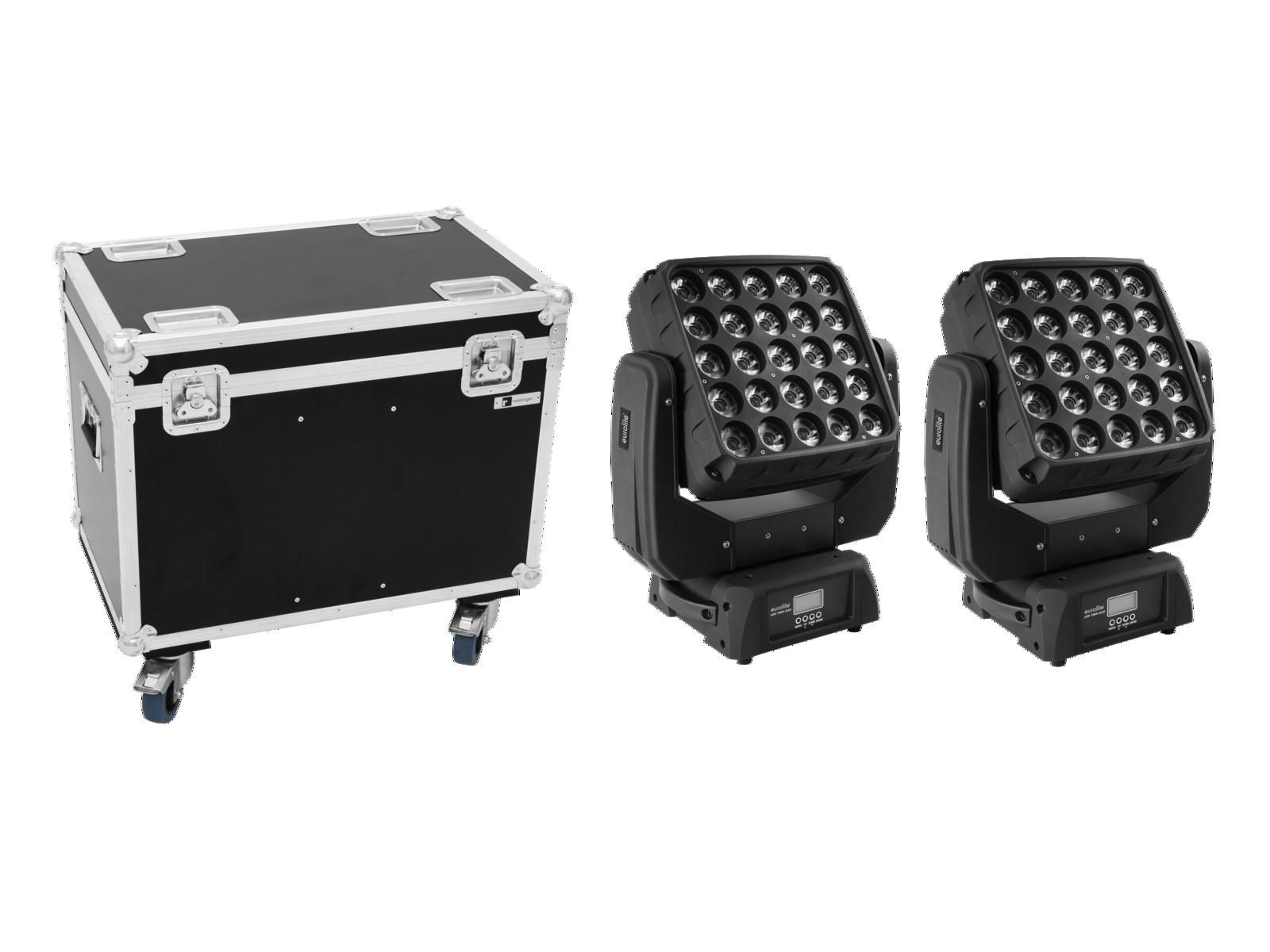 EUROLITE Set 2x LED TMH-X25 Moving-Head + Caso