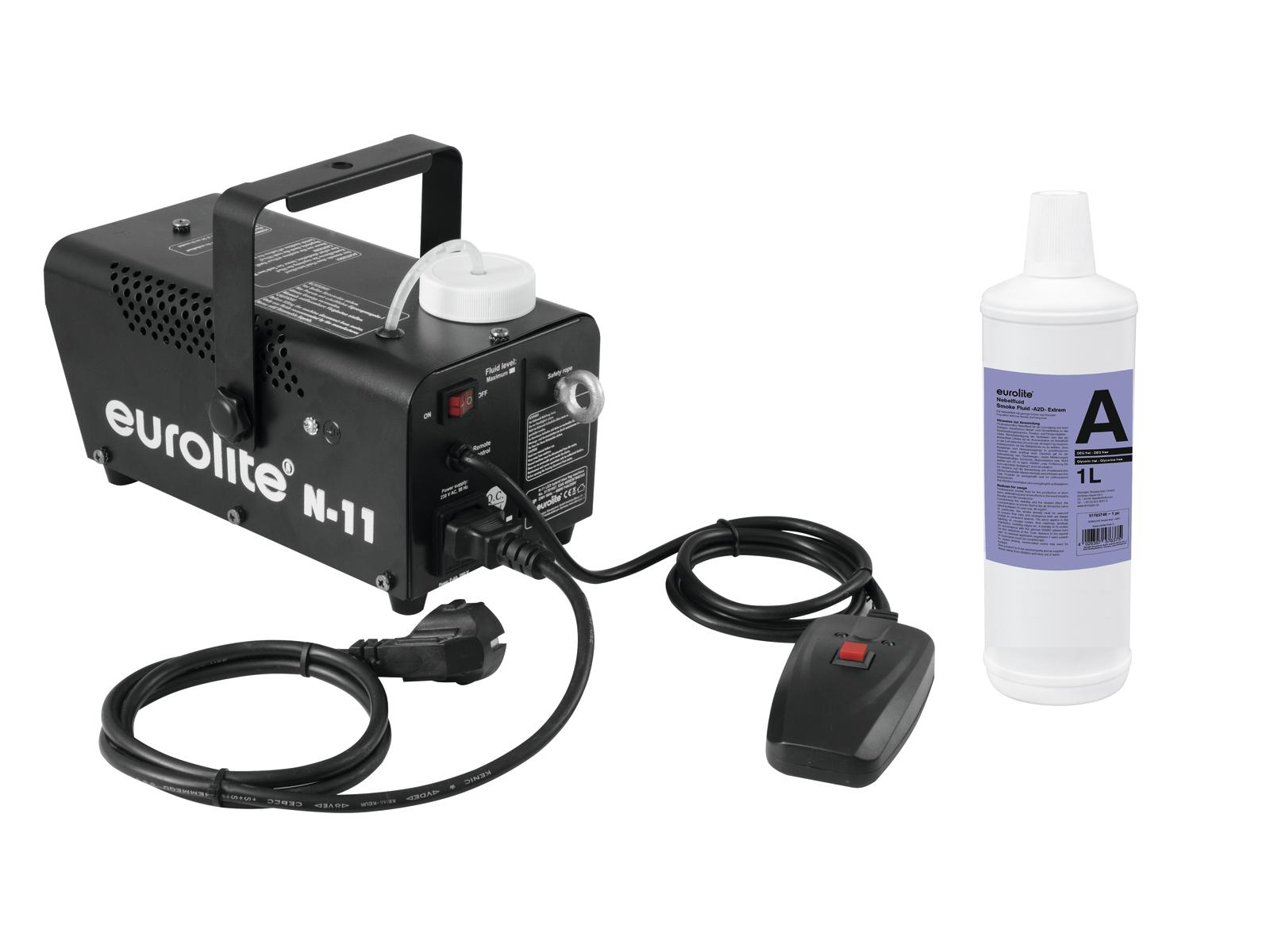 EUROLITE N Set-11 LED Hybrid blue fog machine + A2D Azione di fumo