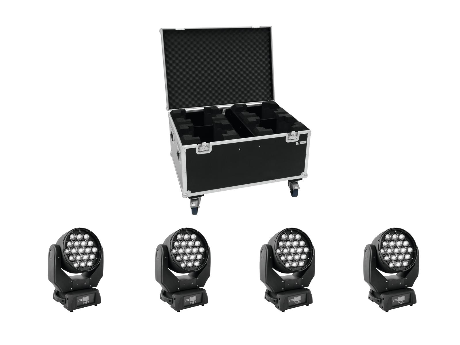 EUROLITE Set 4x LED TMH-X5 + C