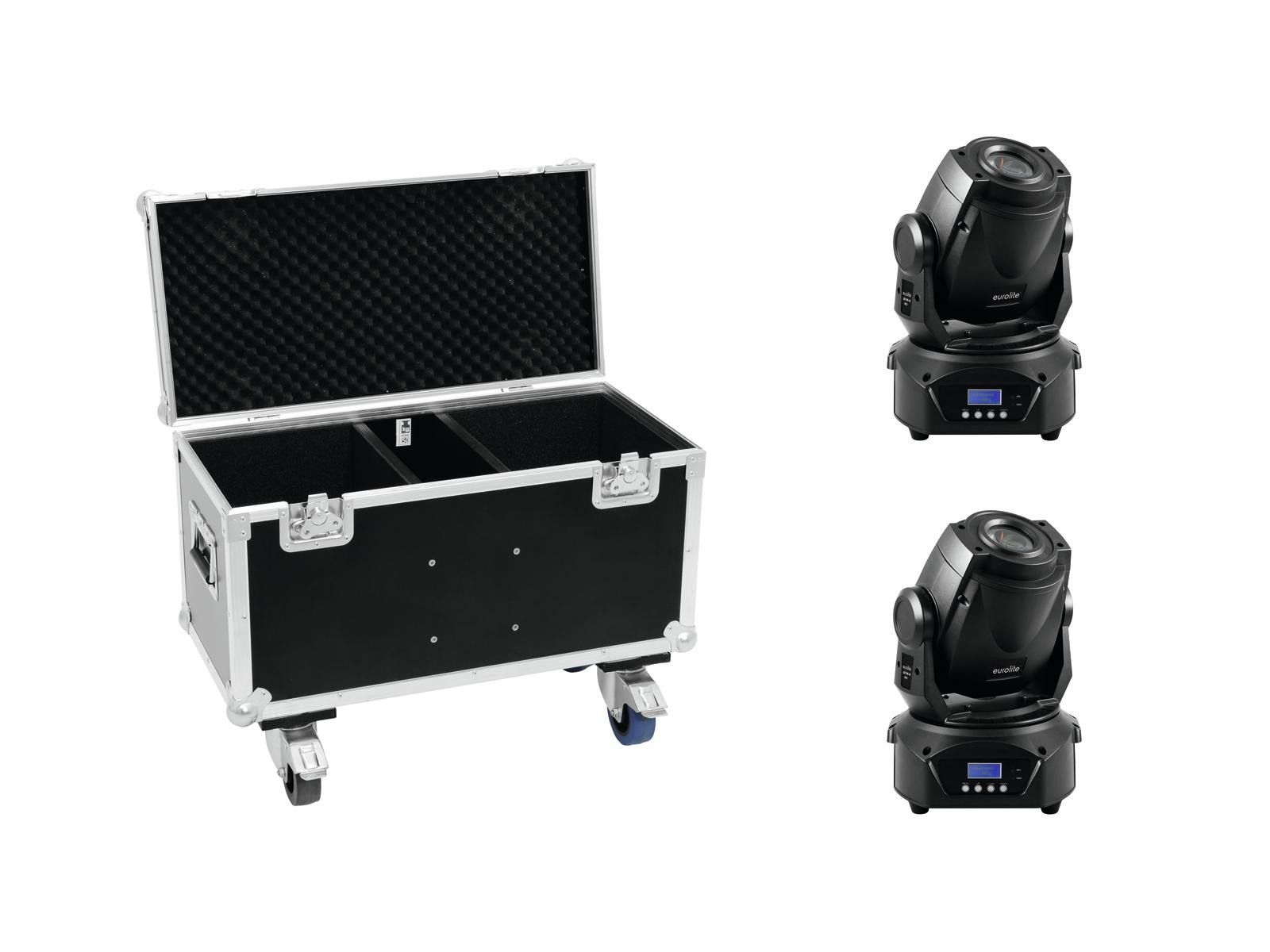 EUROLITE Set 2x LED TMH-60 MK2 + Case con ruote