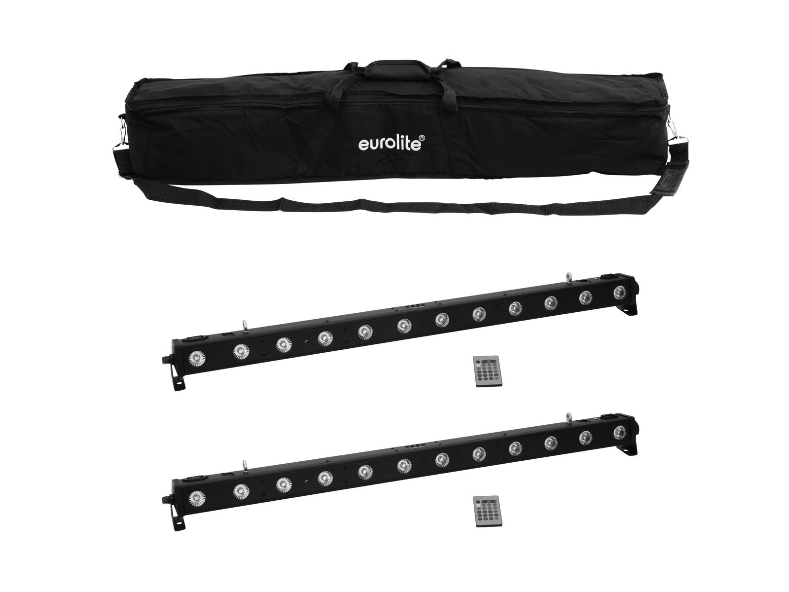 EUROLITE Set 2x LED BAR-1250 RGB+UV + Caso