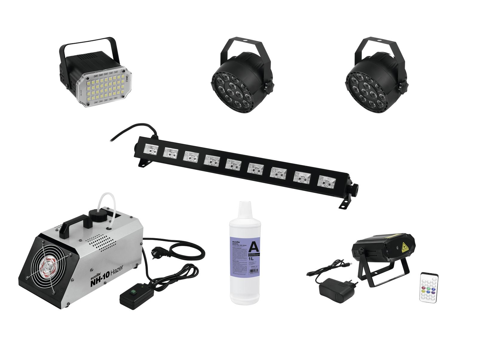 EUROLITE Set LAS-15 + Party UV Bar-9 + 2x LED PARty Spot + Party