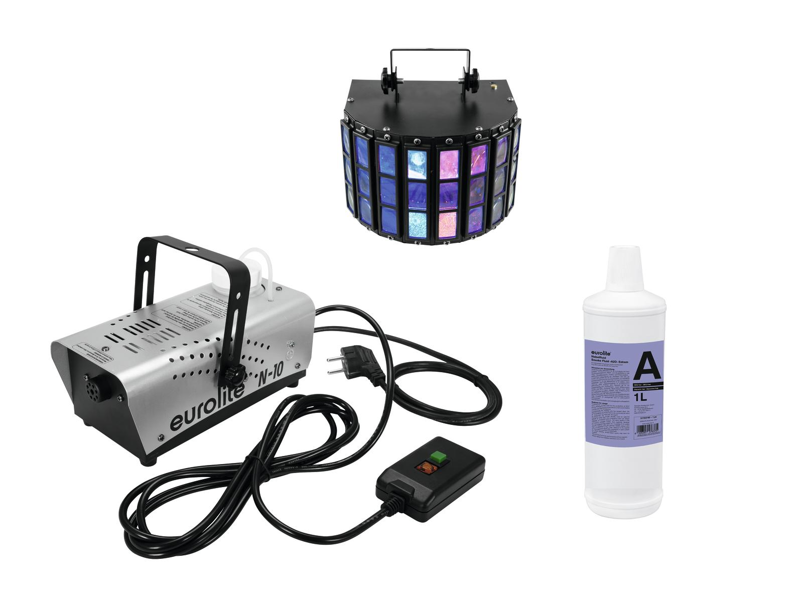 EUROLITE N Set-10 silber + A2D Liquido 1l + LED Mini D-5