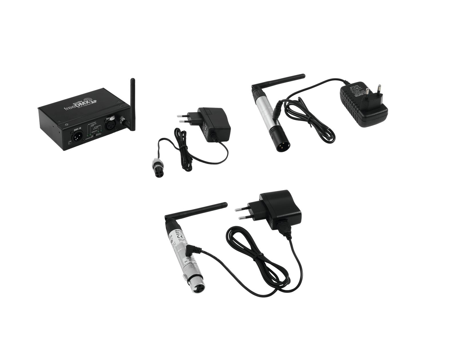 EUROLITE Set freeDMX AP Interfaccia Wi-Fi + QuickDMX Wireless tran