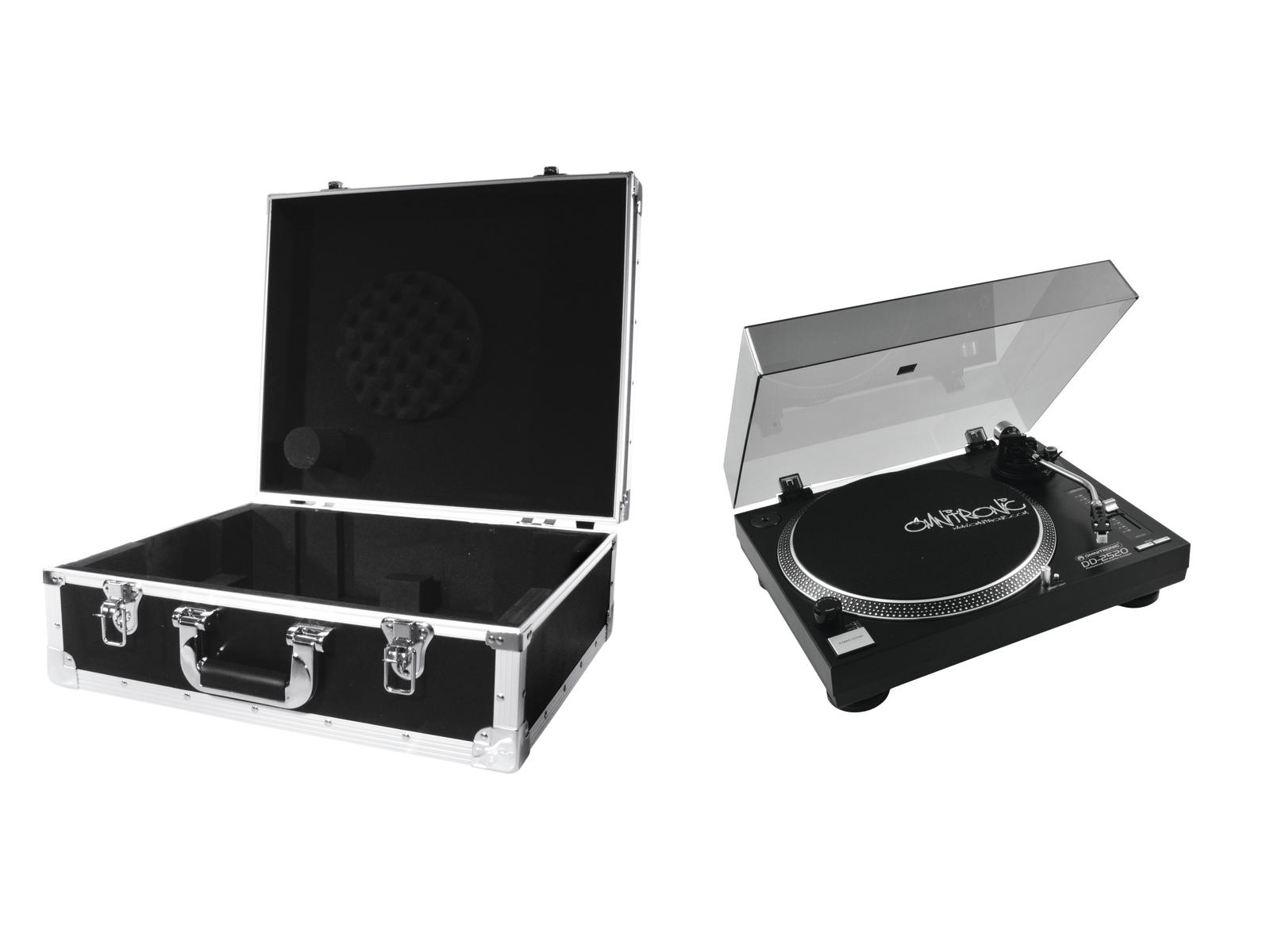 Turntable Tv USB direct drive with flight case OMNITRONIC DD-2520