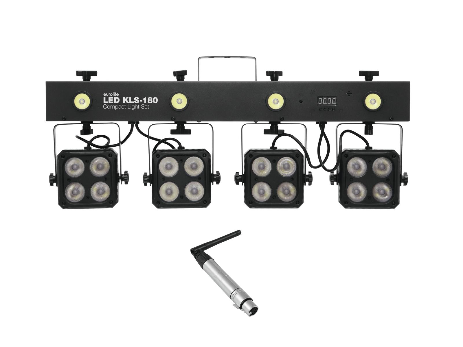 EUROLITE Set LED KLS-180 + QuickDMX ricevitore Wireless