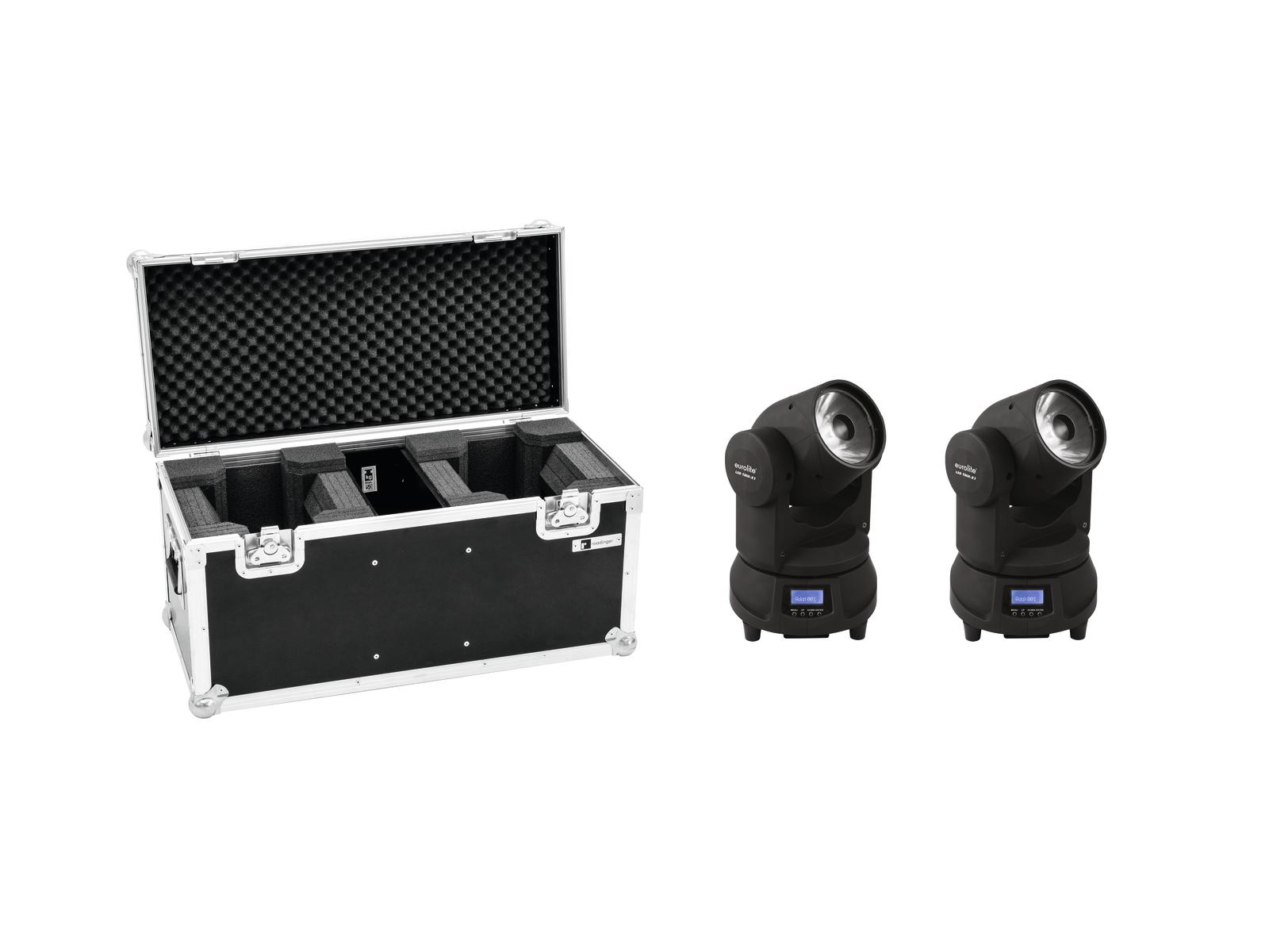 EUROLITE Set 2x LED TMH-X1 Moving-Head Beam + Caso