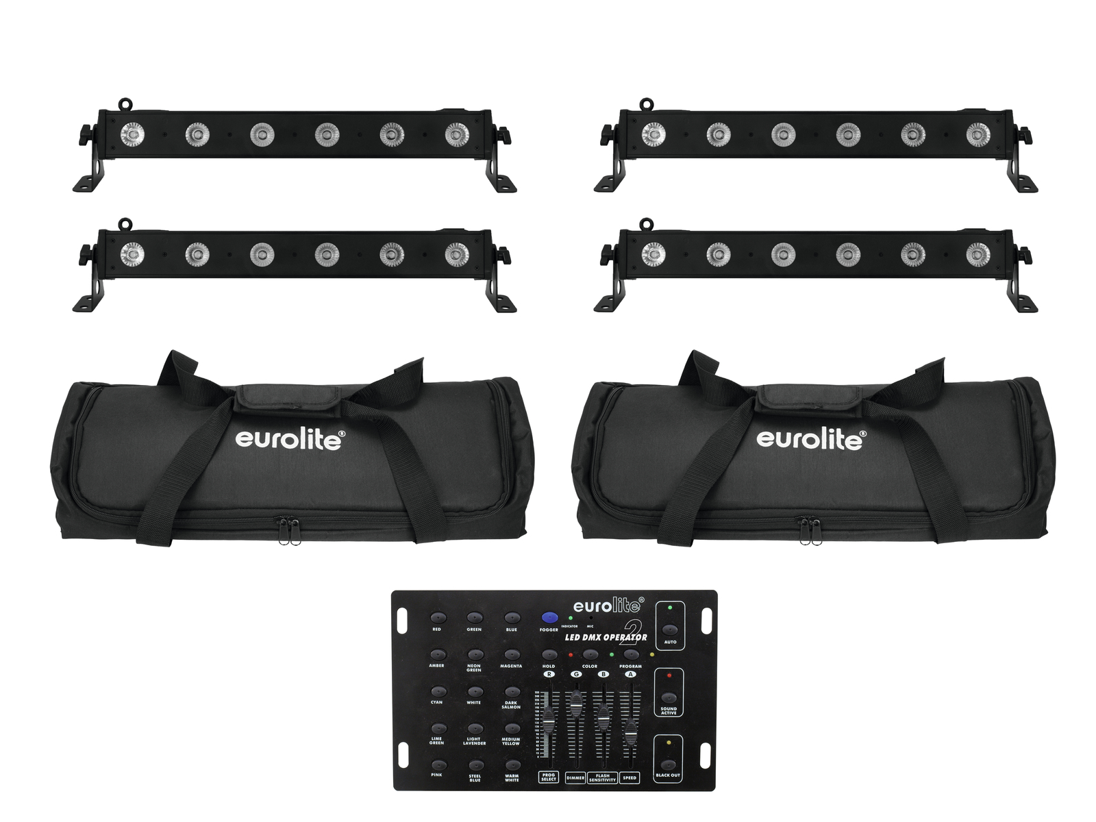 EUROLITE Set 4x LED BAR-6 QLC