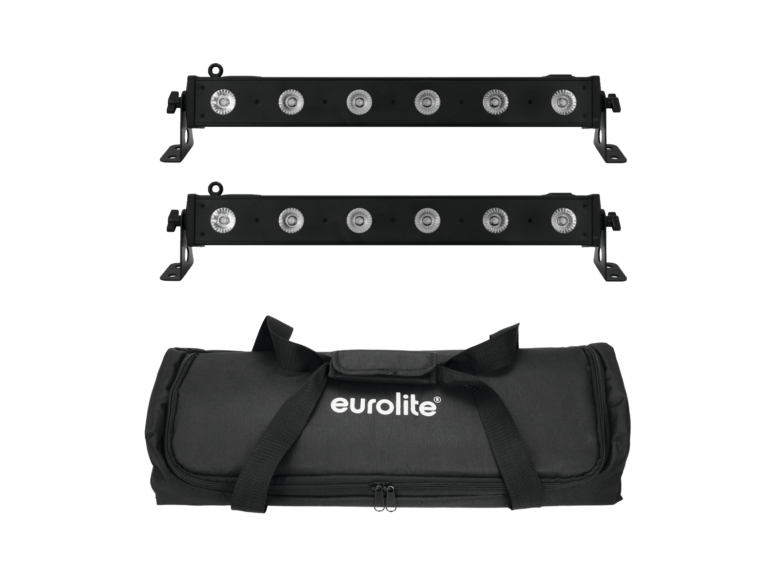 EUROLITE Set 2x LED BAR-6 QLC RGBW + Borsa Morbida