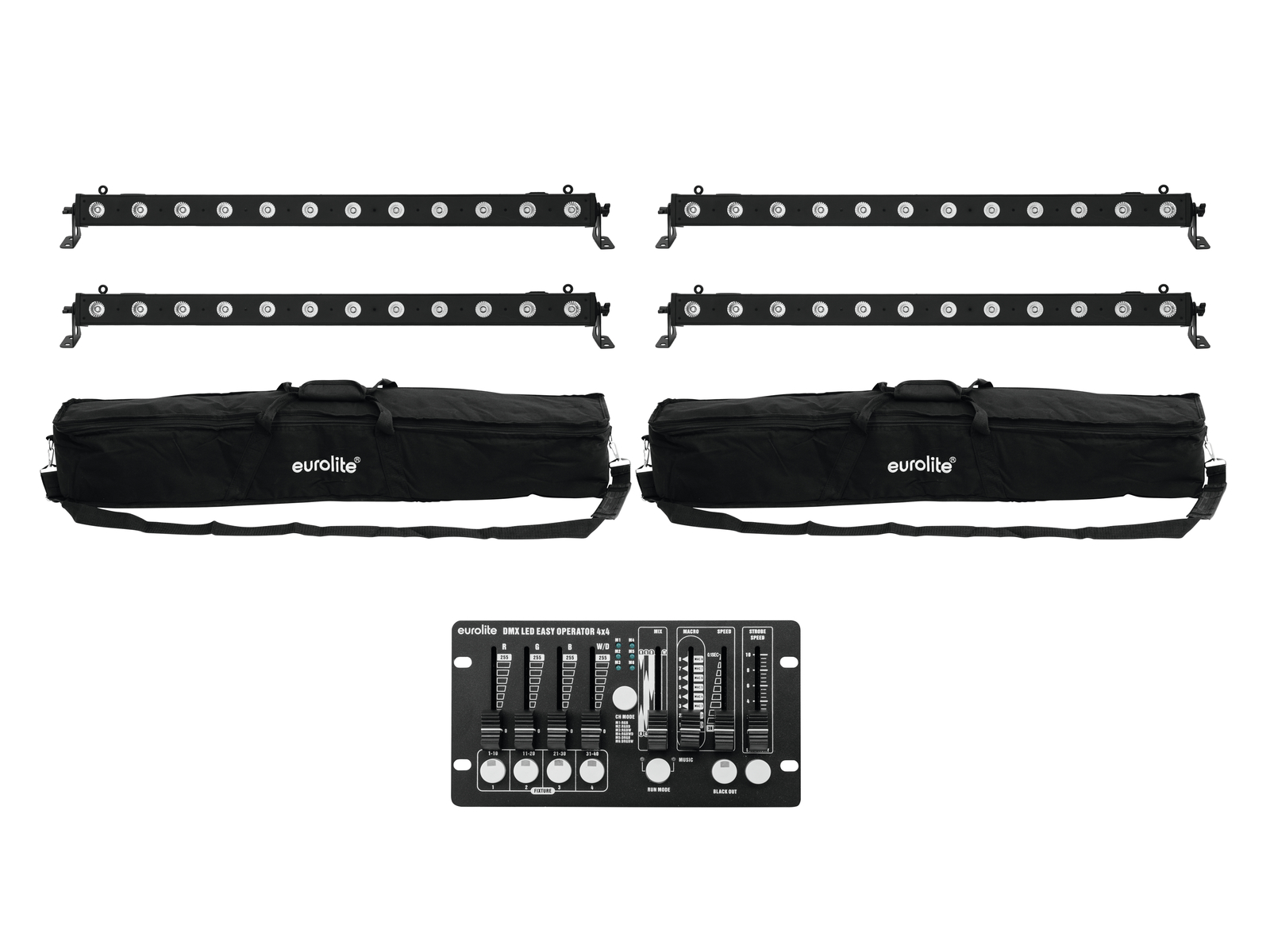 EUROLITE Set 4x LED BAR-12 QLC