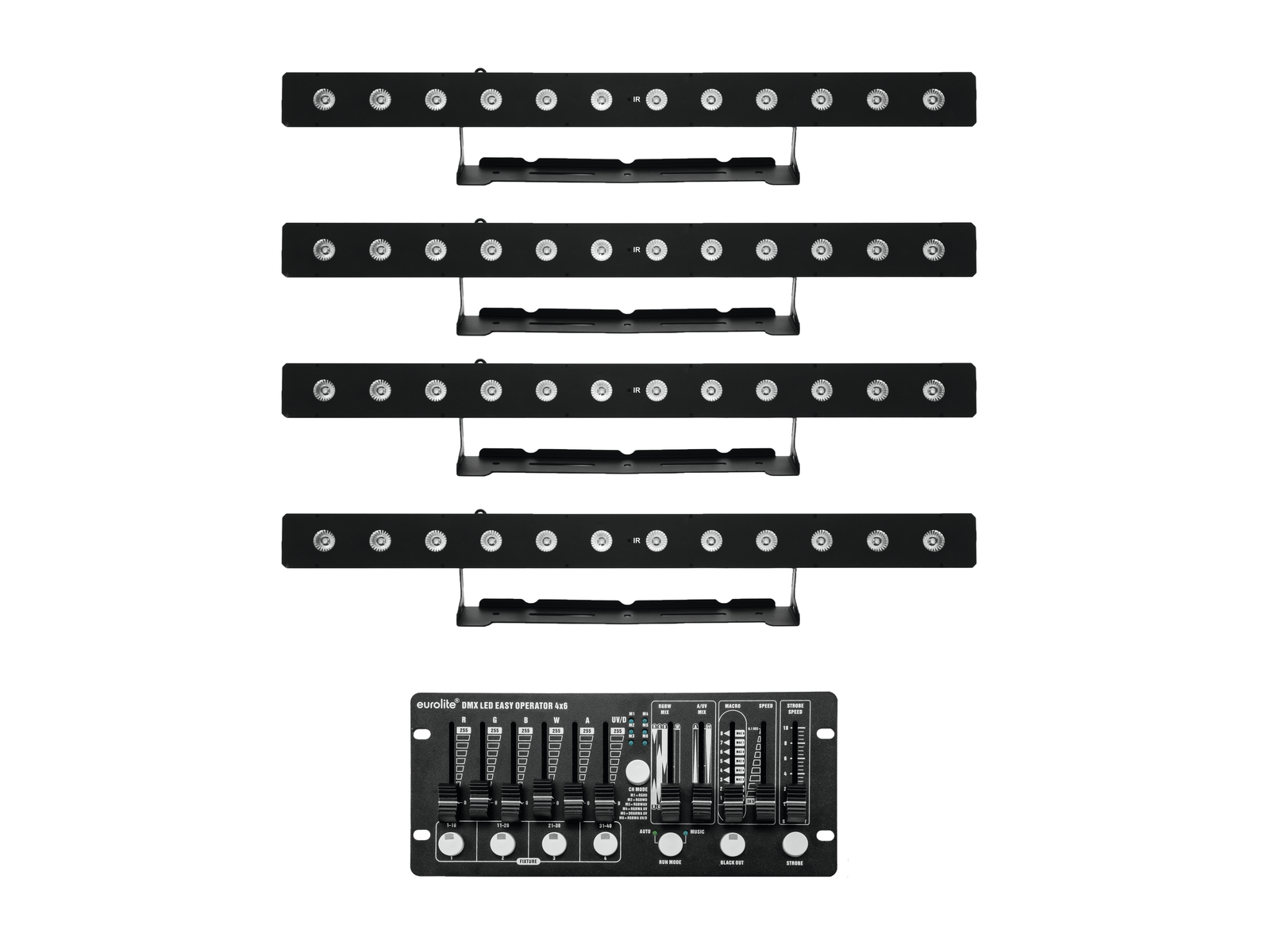EUROLITE Set 4x LED PIX-12 HCL