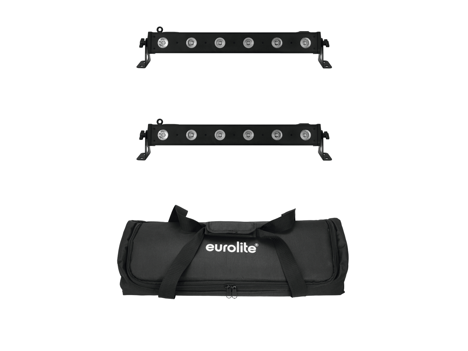 EUROLITE Set 2x LED BAR-6 QLC RGBA + Borsa Morbida