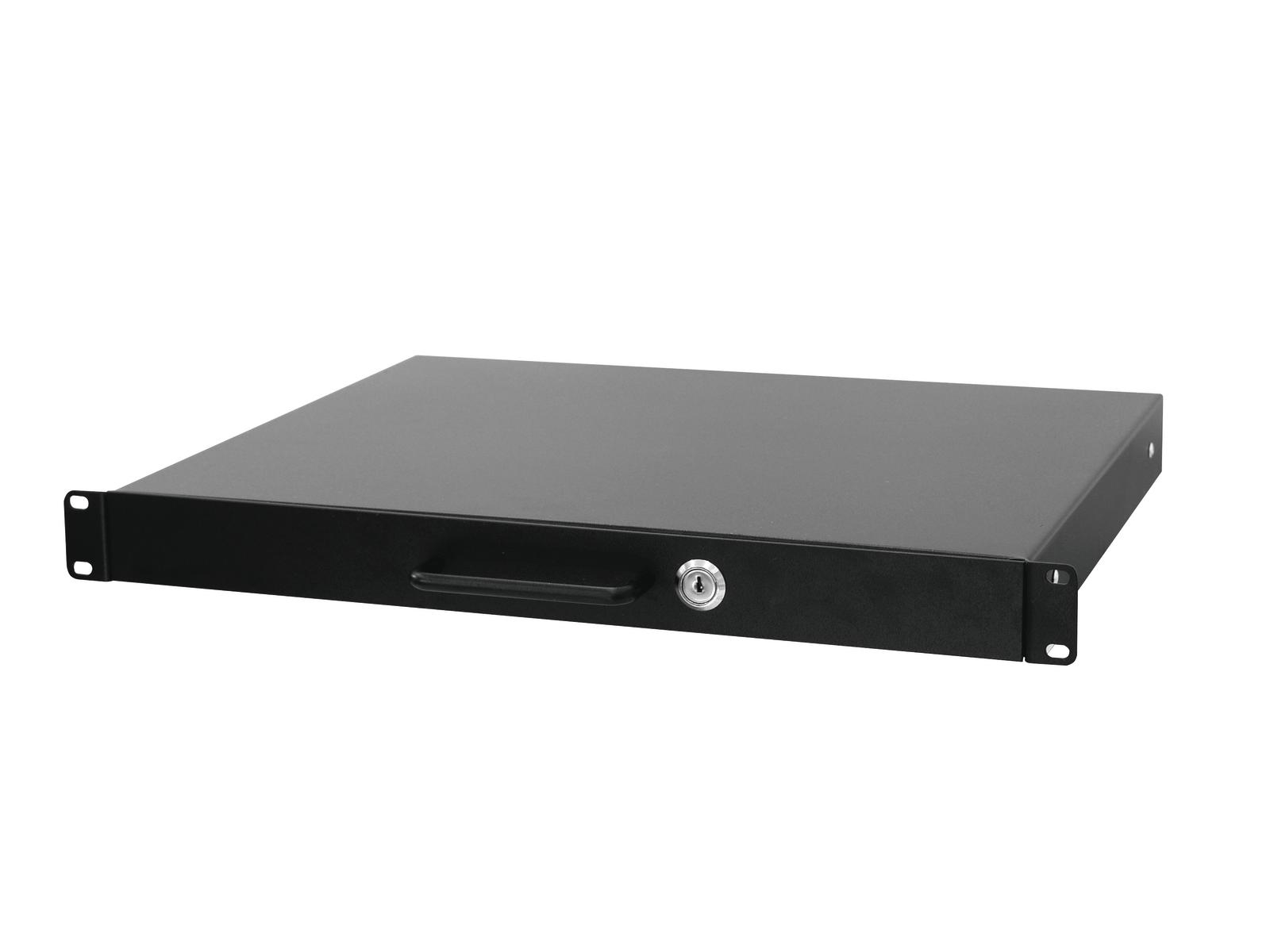 OMNITRONIC cassetto Rack con serratura 1U : 415 x 350 x 30 mm