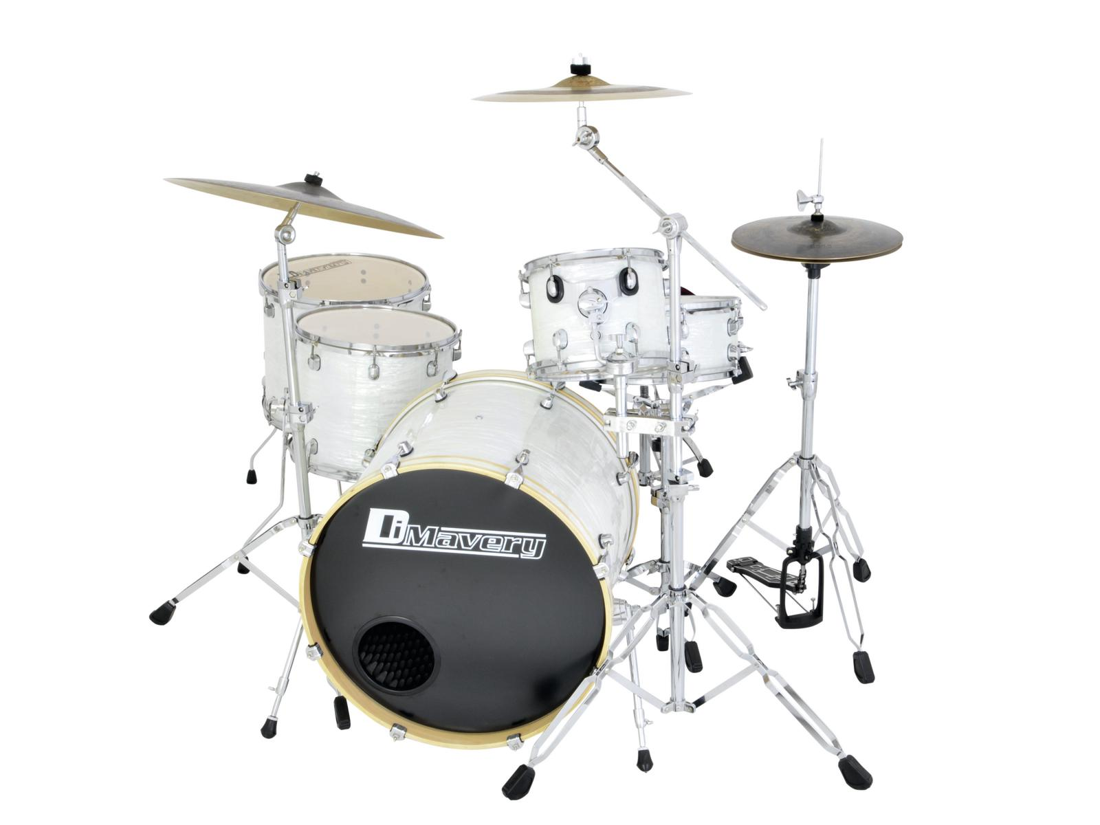 DIMAVERY DS-555 Drum set bianco perla