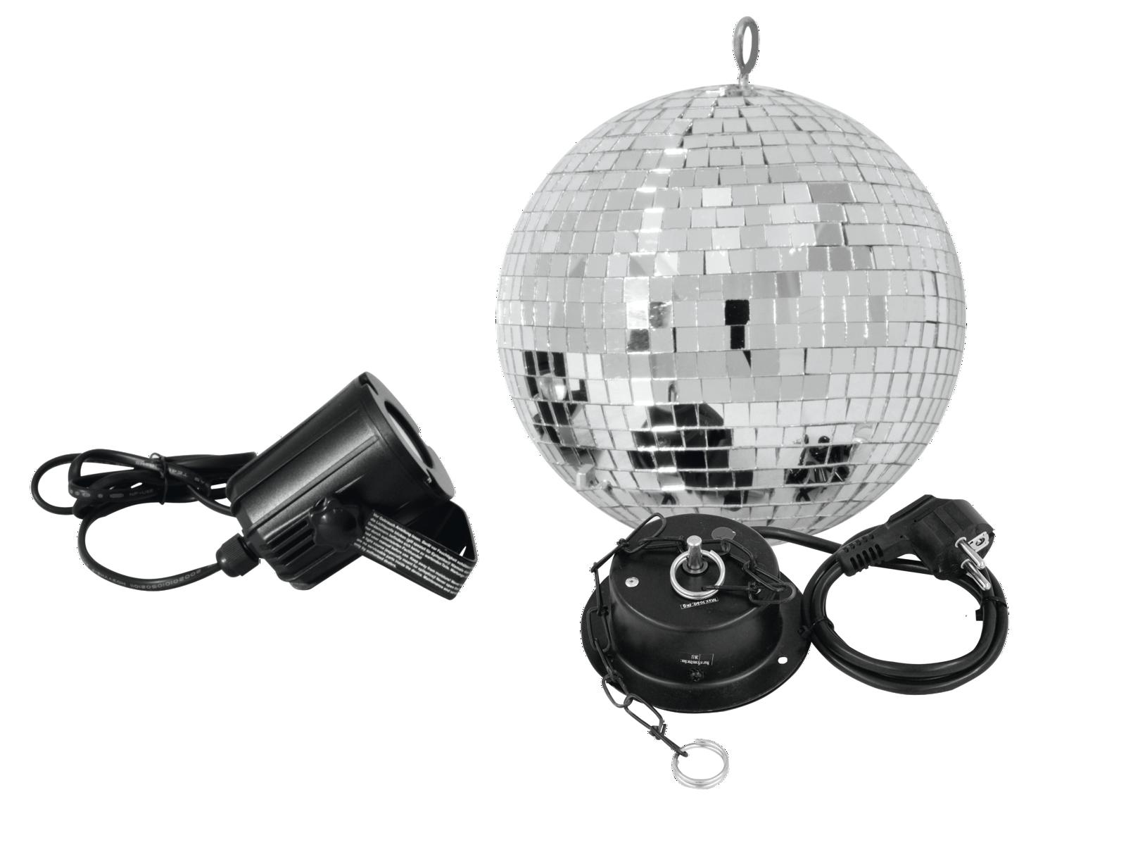 EUROLITE Mirror ball Set di 20 cm con faretto a LED