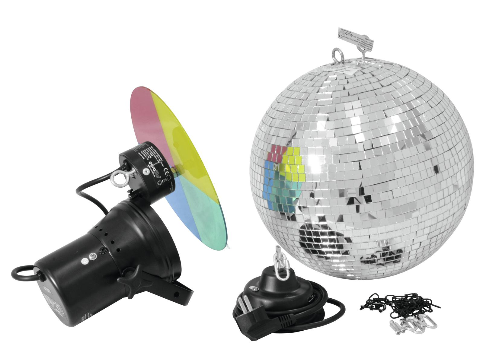 EUROLITE Mirror ball set 30cm