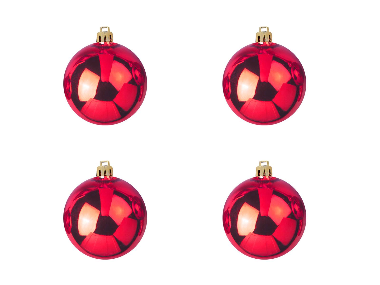 Balls Balls christmas Plastic 10Cm for Tree decoration 4 pcs Red
