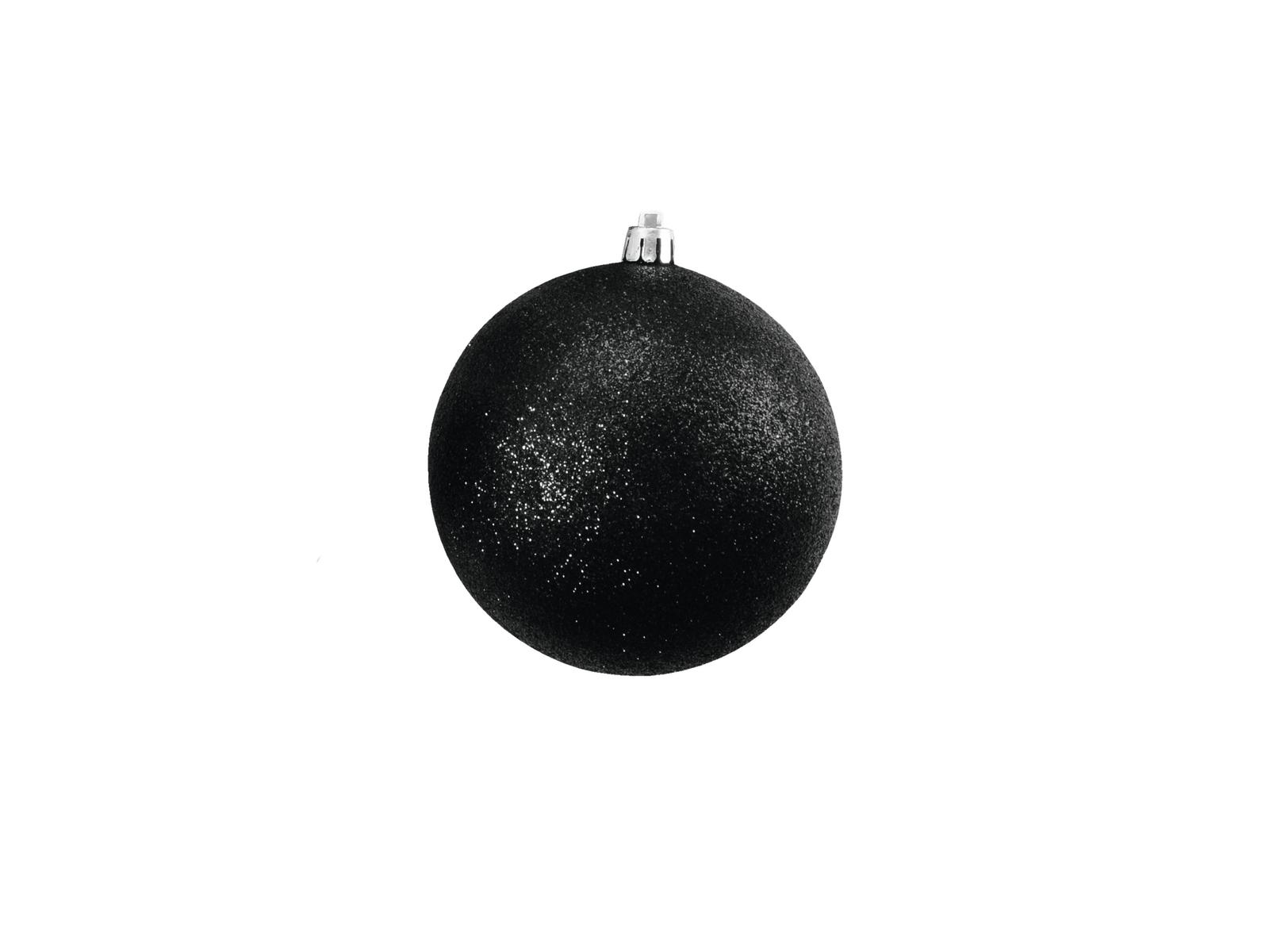 EUROPALMS Decoball 10cm, nero, glitter 4x