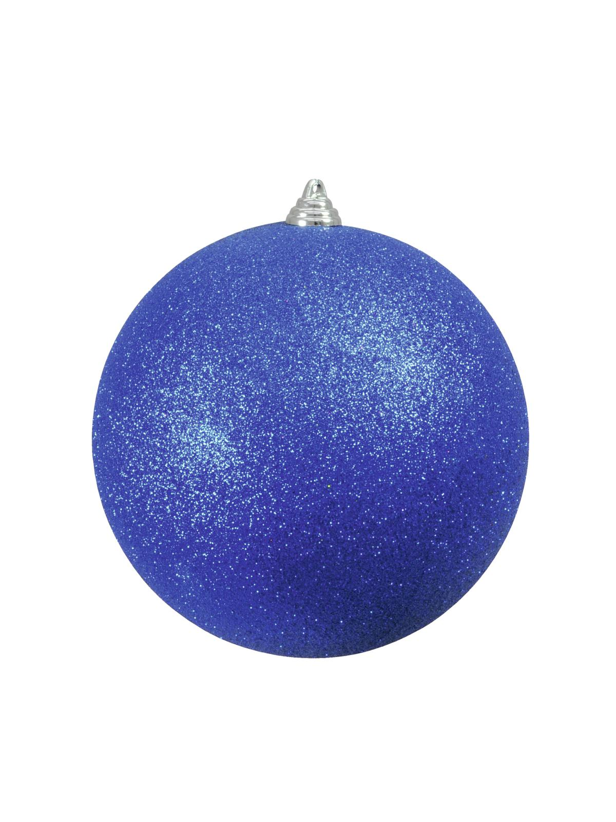 EUROPALMS Decoball 20cm, blu, glitter