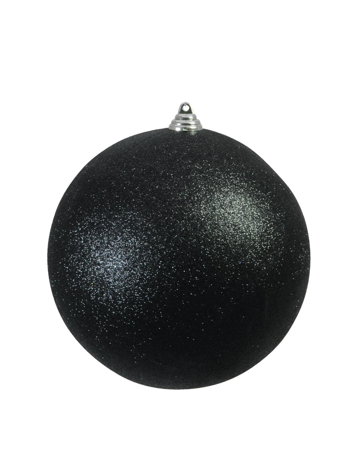 EUROPALMS Decoball 20 cm, nero, glitter