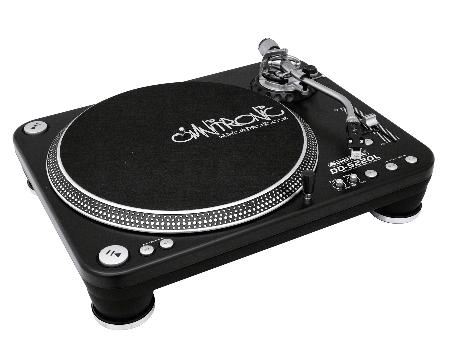 Turntable Platter direct drive OMNITRONIC DD-5220L