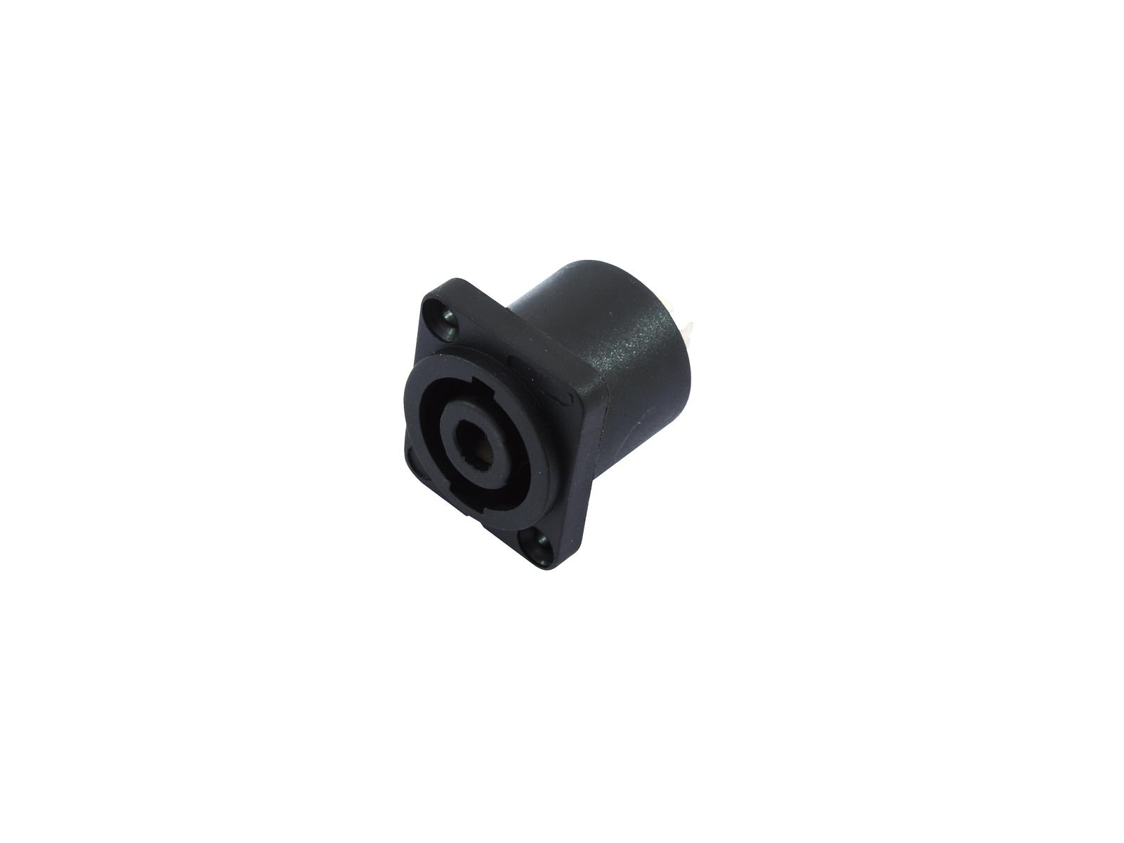 Connettore Audio Speakon 4 Poli  M  da pannello nero  Omnitronic