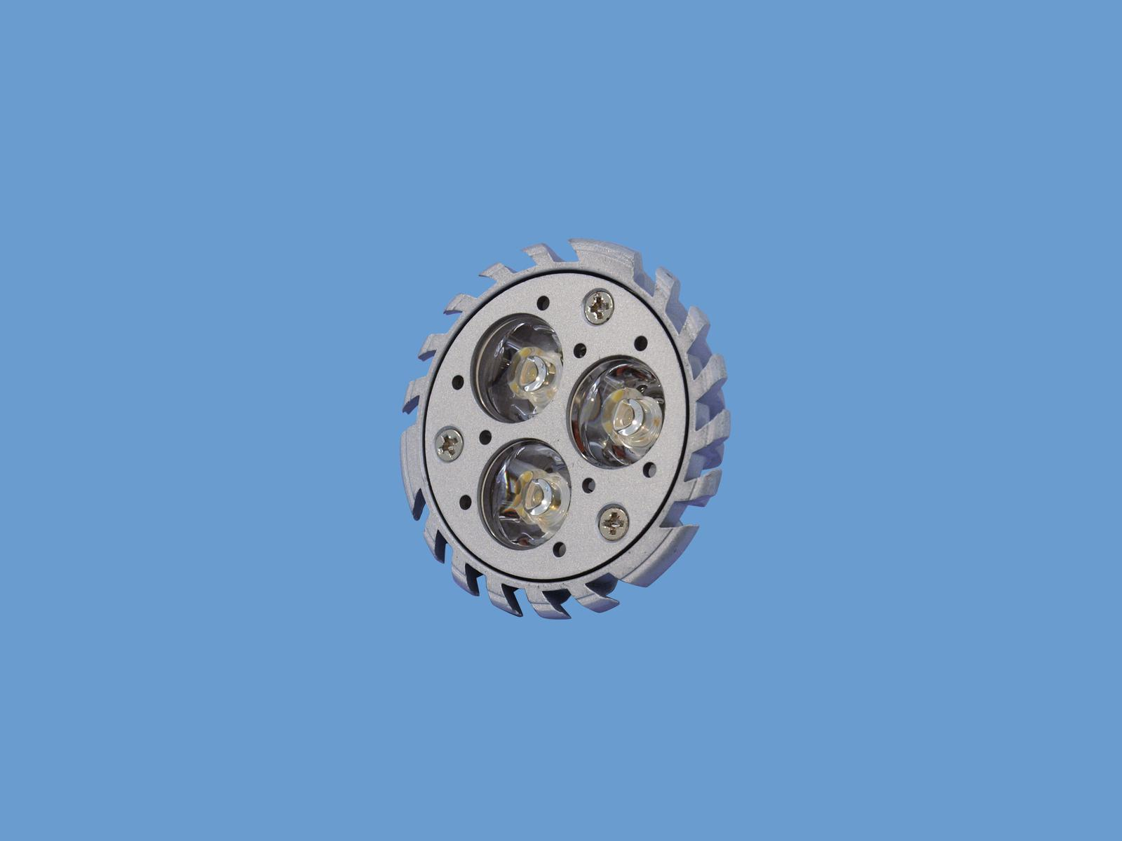 Lampada con 3 led MR-16 12V GU