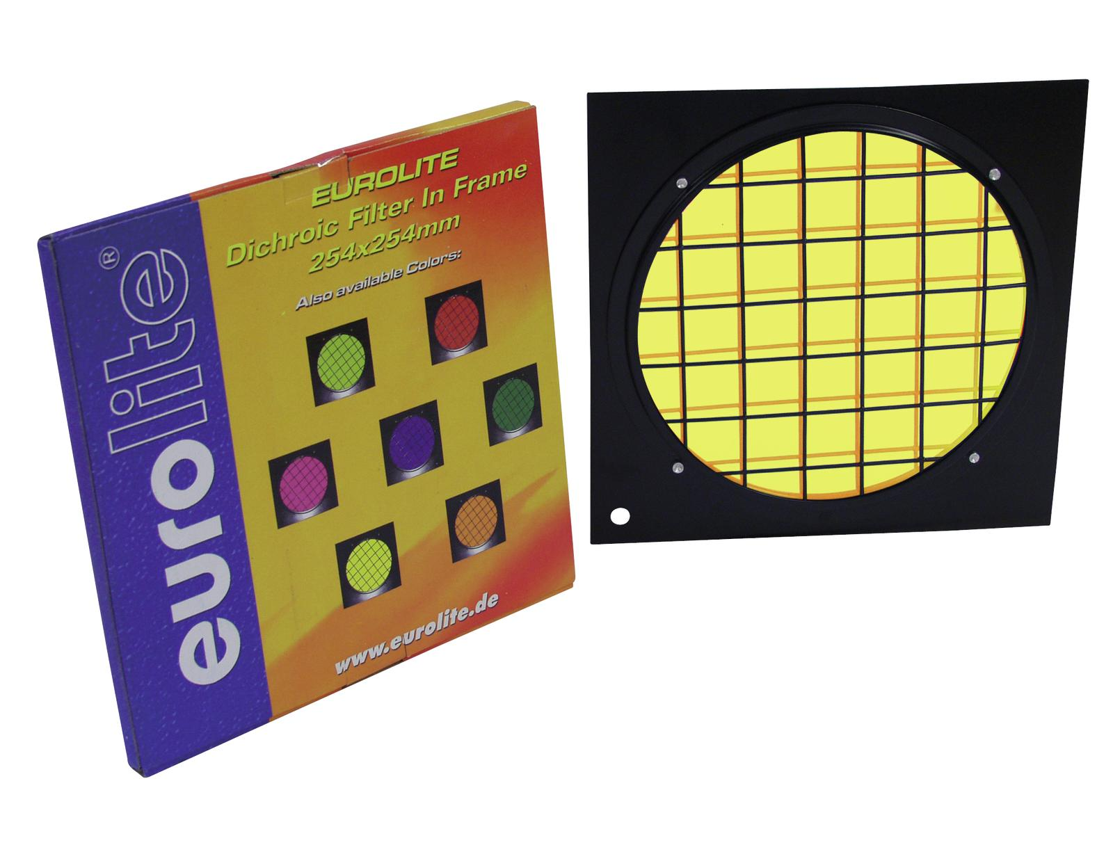 Filter, Dichroic, For PAR 64 profi-spot 254 x 254 mm EUROLITE Yellow