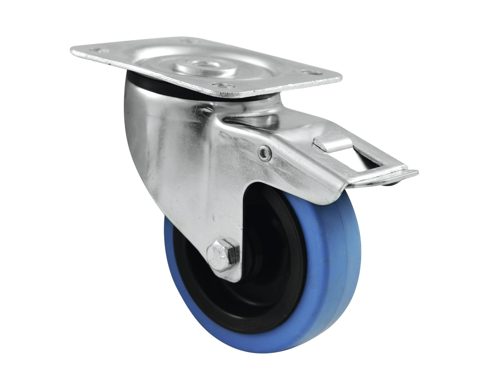 ROADINGER supporto rotante 100mm RUOTA BLU con freno