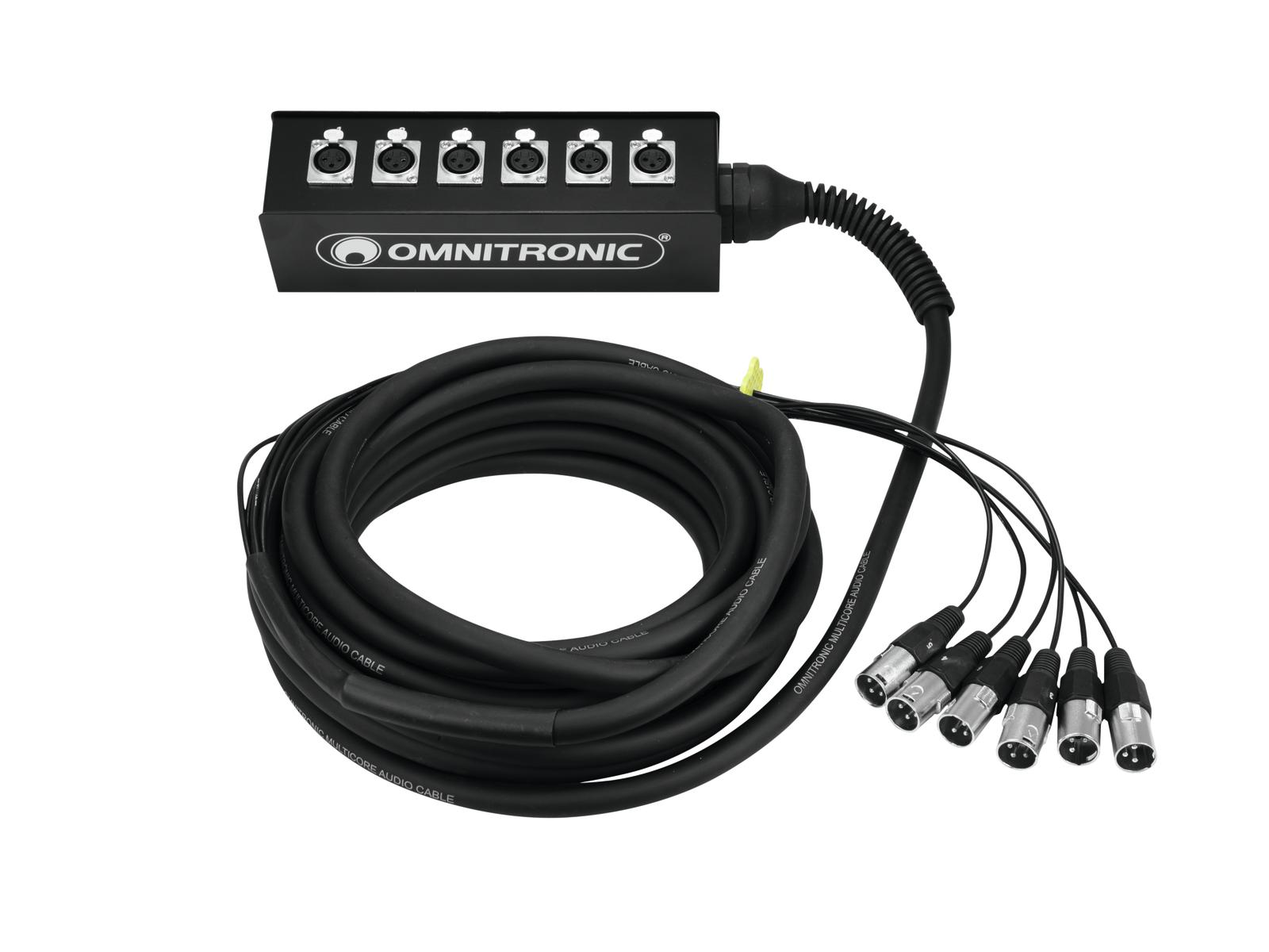 OMNITRONIC Multicore Stagebox 6IN 10m