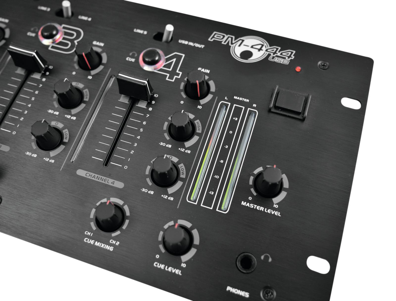 Mixer DJ PM-444USB 4-channel OMNITRONIC
