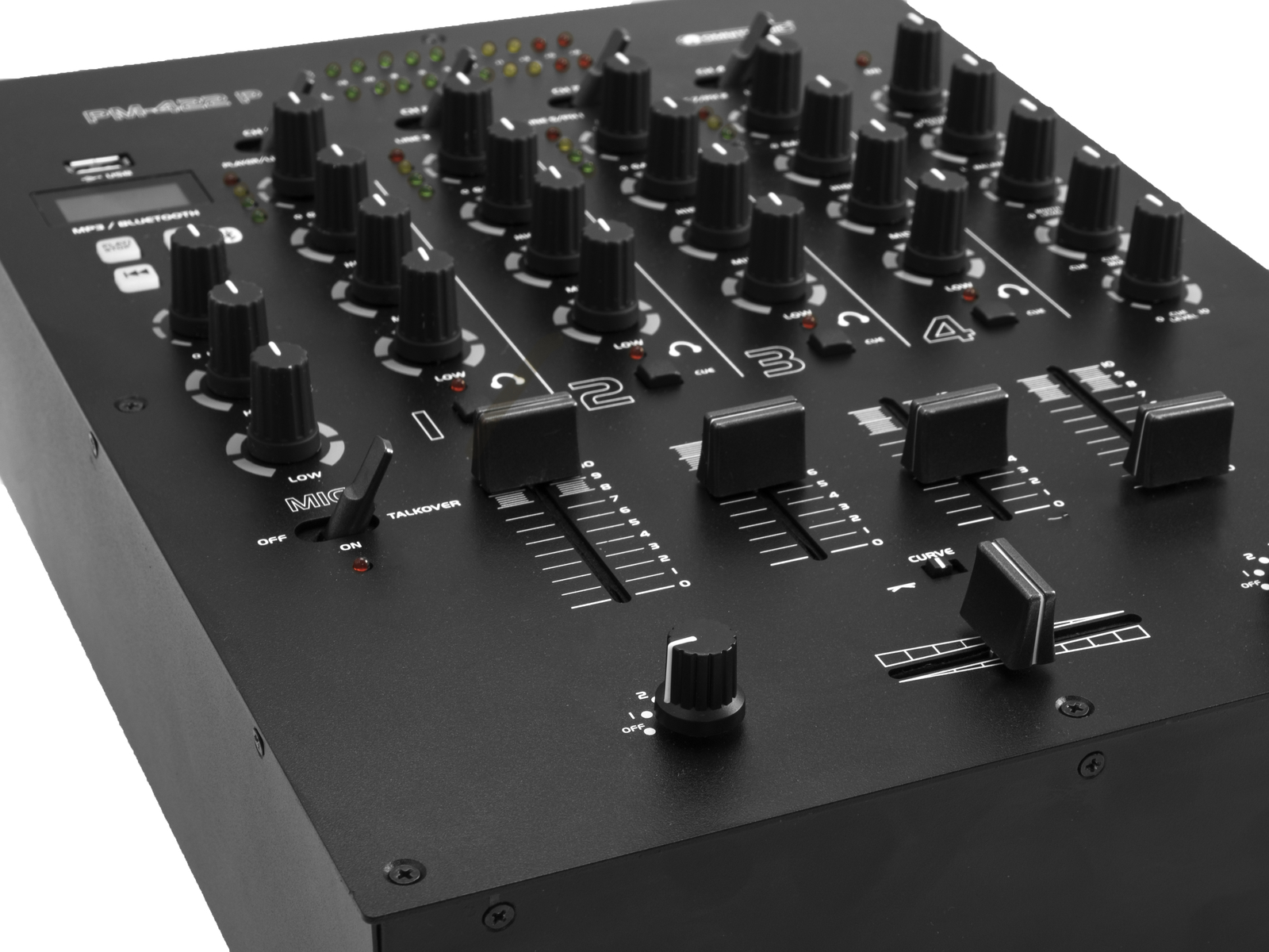 OMNITRONIC PM-422P 4-Kanal-DJ-Mixer mit Bluetooth und USB-Player