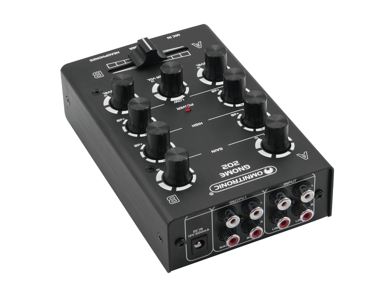 OMNITRONIC GNOME-202 Mini mixer nero