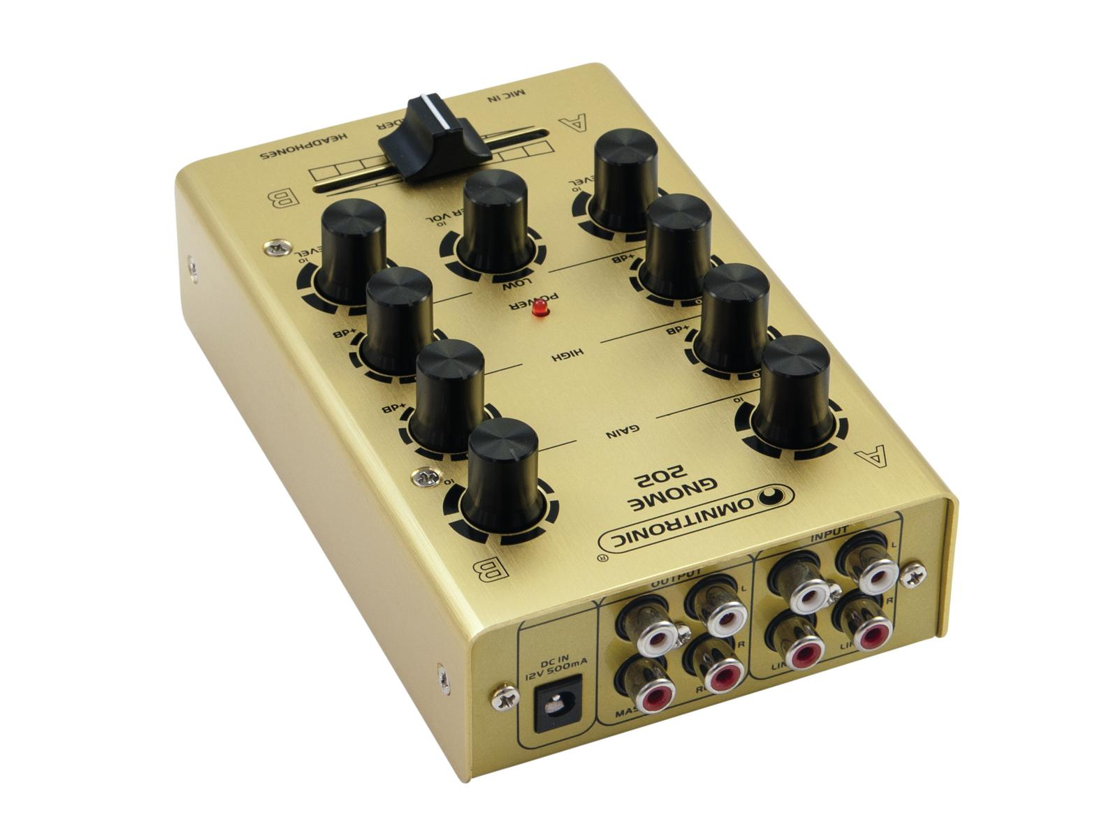 OMNITRONIC GNOME-202 Mini-Mixer gold