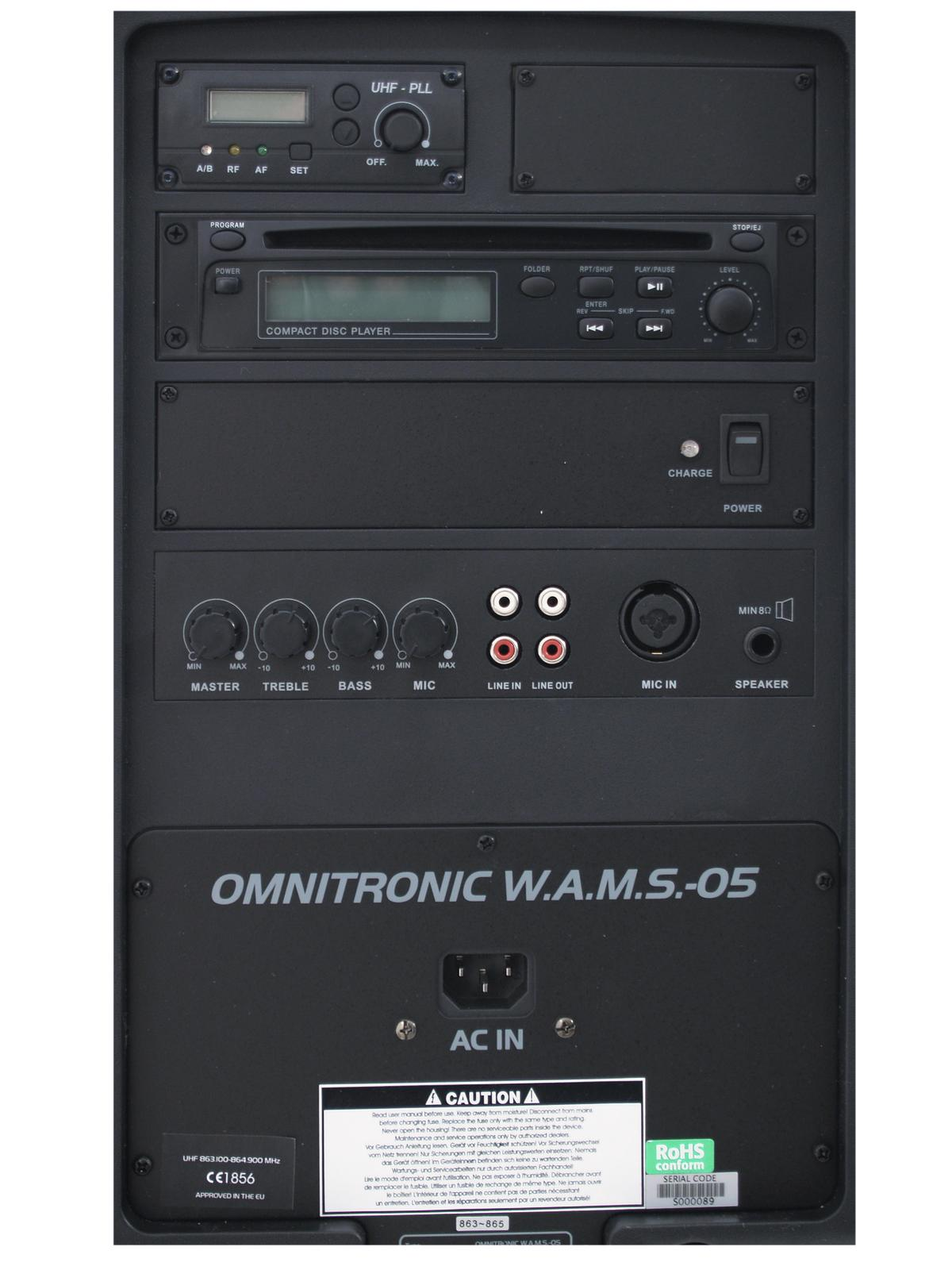 OMNITRONIC WAMS-05 PA Wireless sistema