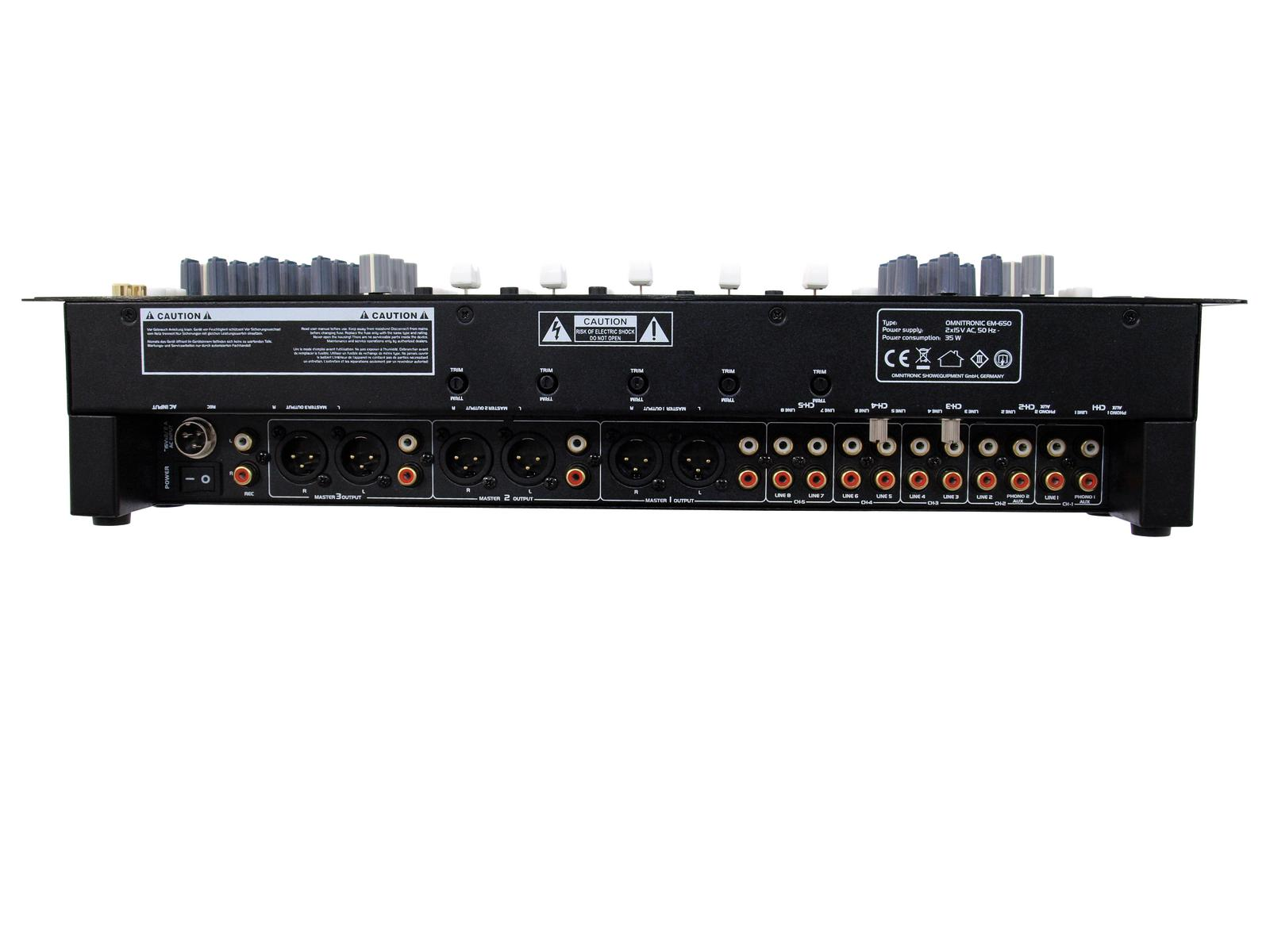OMNITRONIC EM-650B Entertainment-Mixer