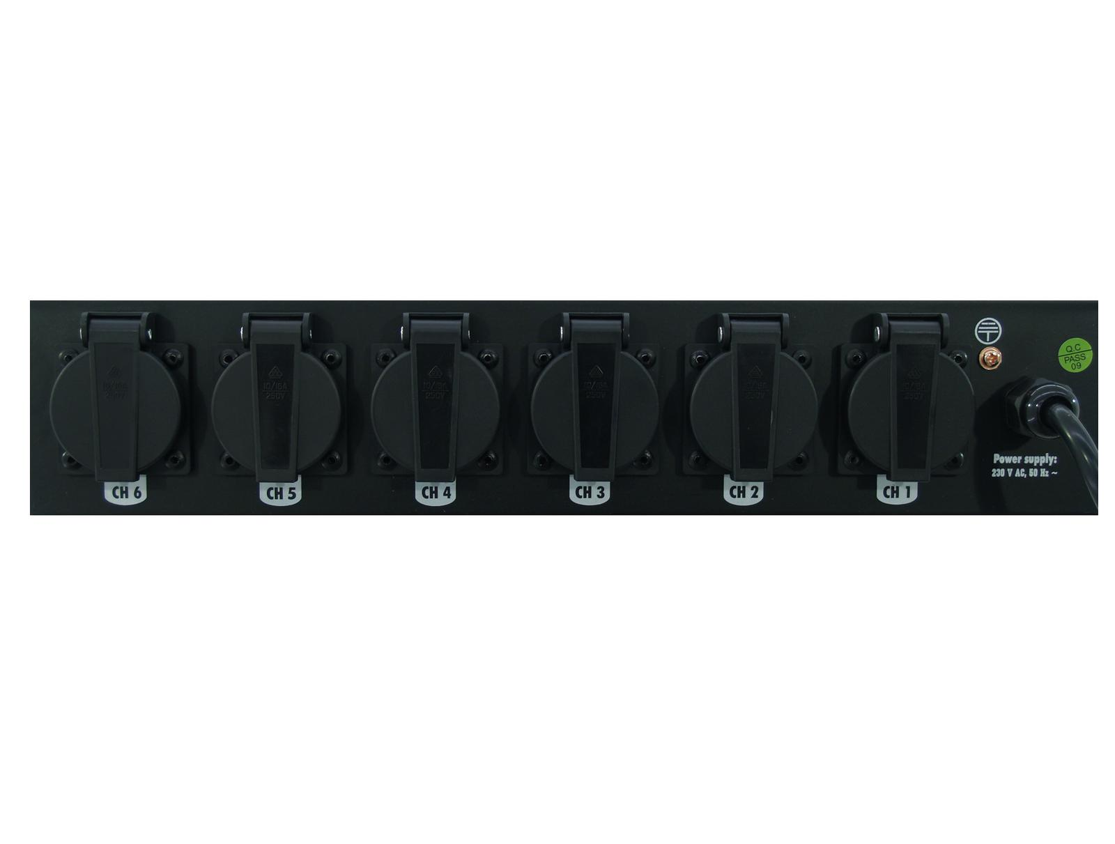Centralina Luci Dimmer Comando Board 6-S With 6x Safety-Plugs Eurolite