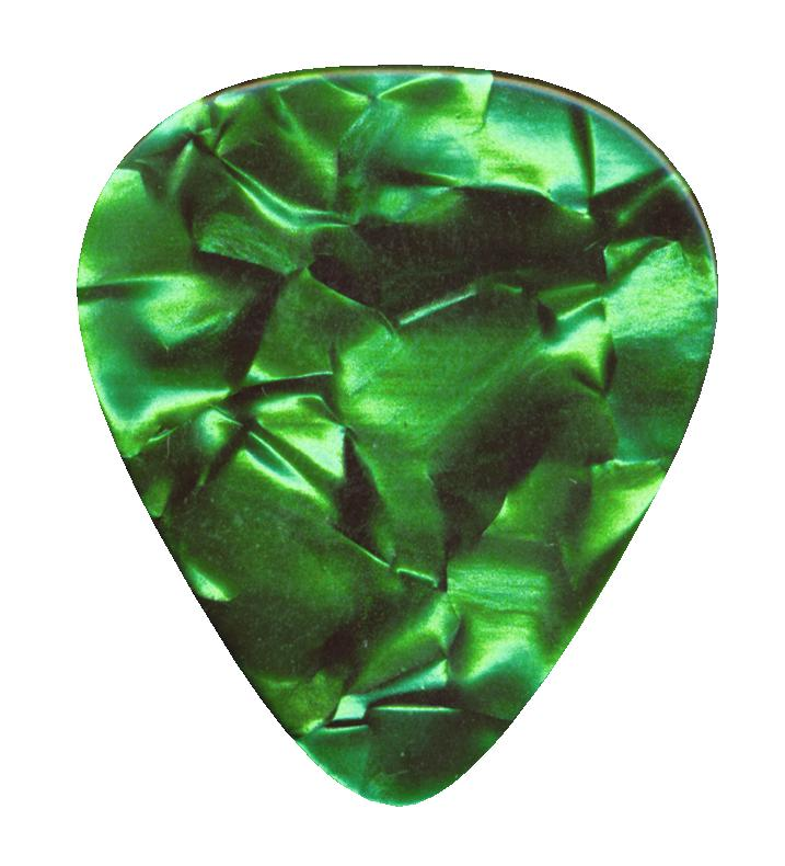 DIMAVERY Pick 0,71 mm pearleffect verde 12x