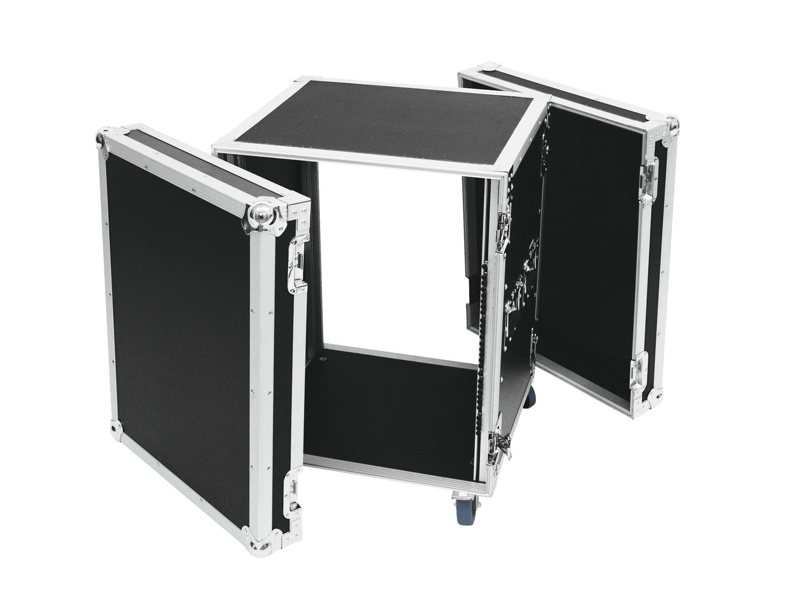Flight case Rack Per il trasporto Di amplificatori PR-2, 14U, 47cm with wheels