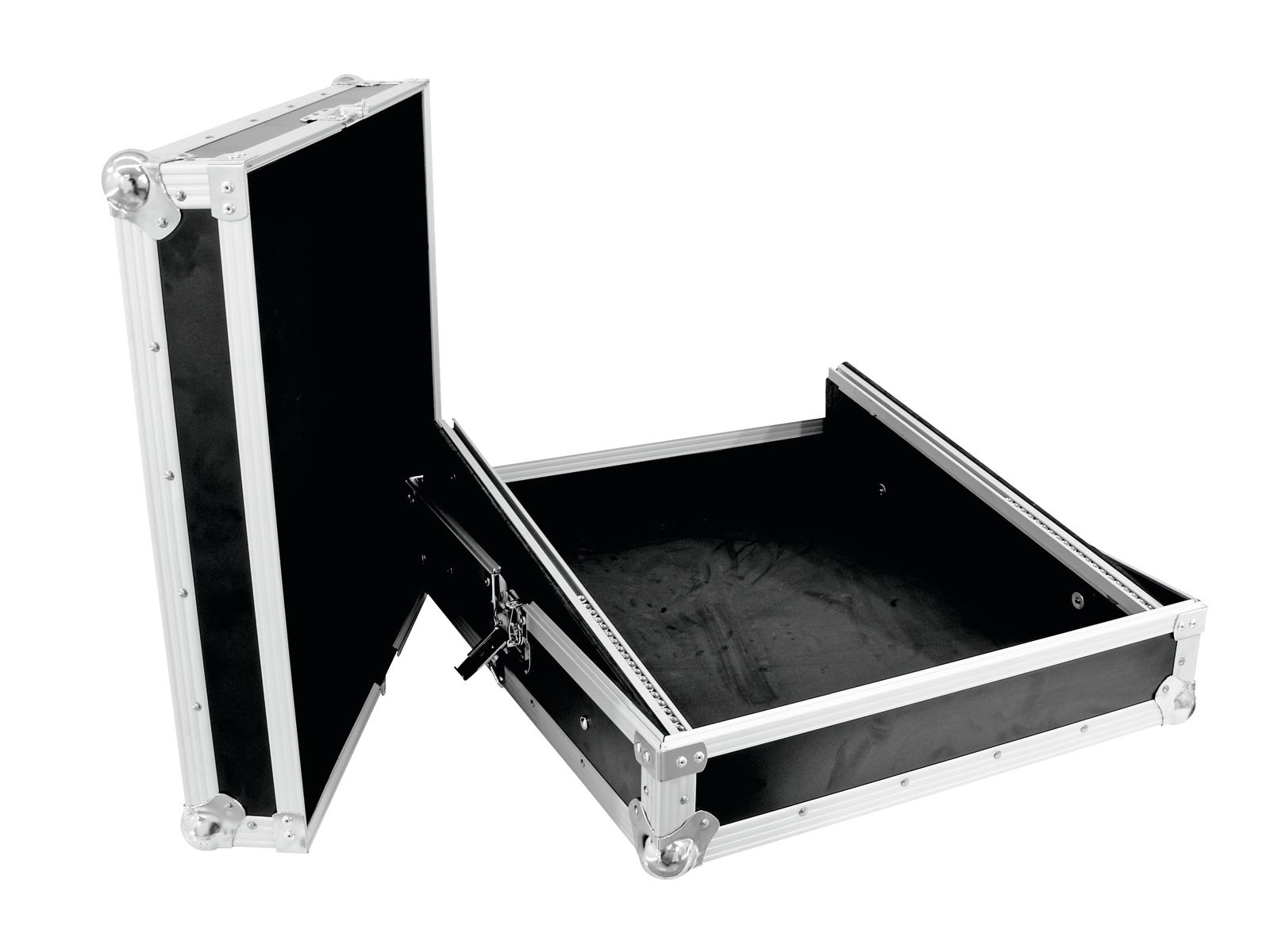Flight Case Custodia per Dj Mixer Audio Luci Inclinato 10U Roadinger Pro MCB-19