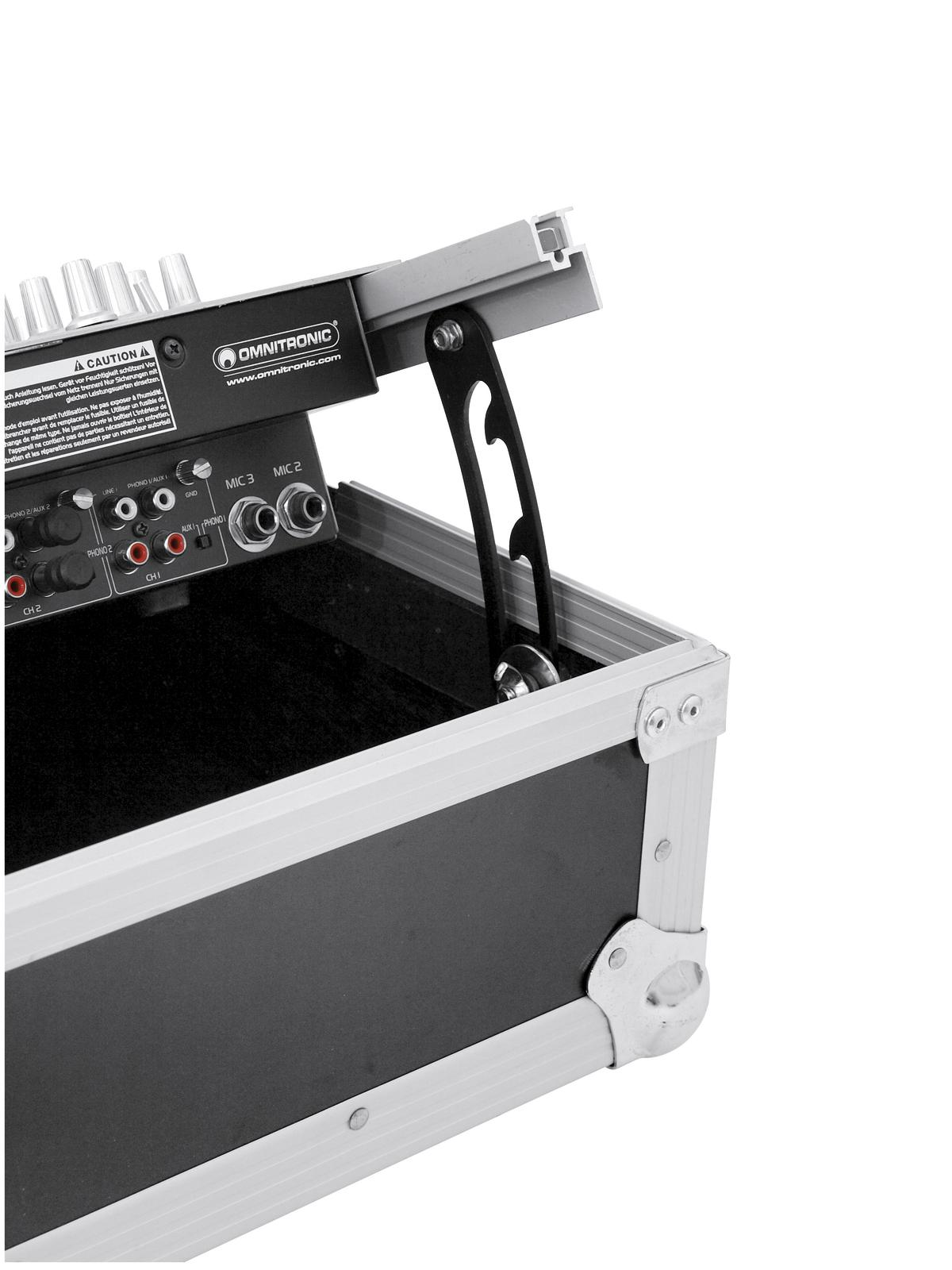 Flight Case Custodia per Dj Mixer Audio Luci Inclinato 8U Roadinger Pro MCV-19