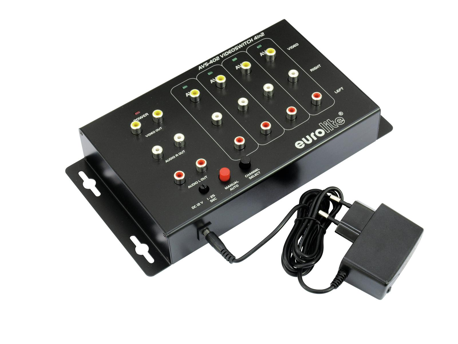 EUROLITE AVS-402 Videoswitch 4in2