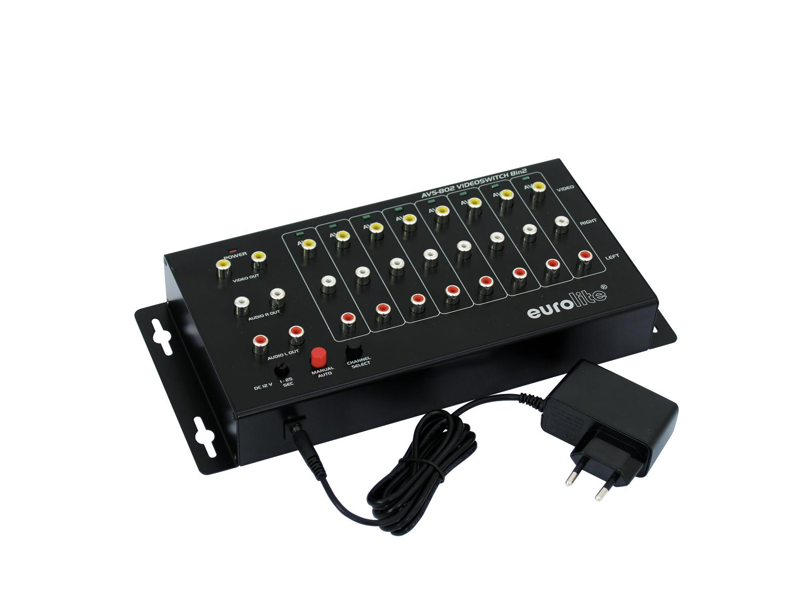 EUROLITE AVS-802 Videoswitch 8in2