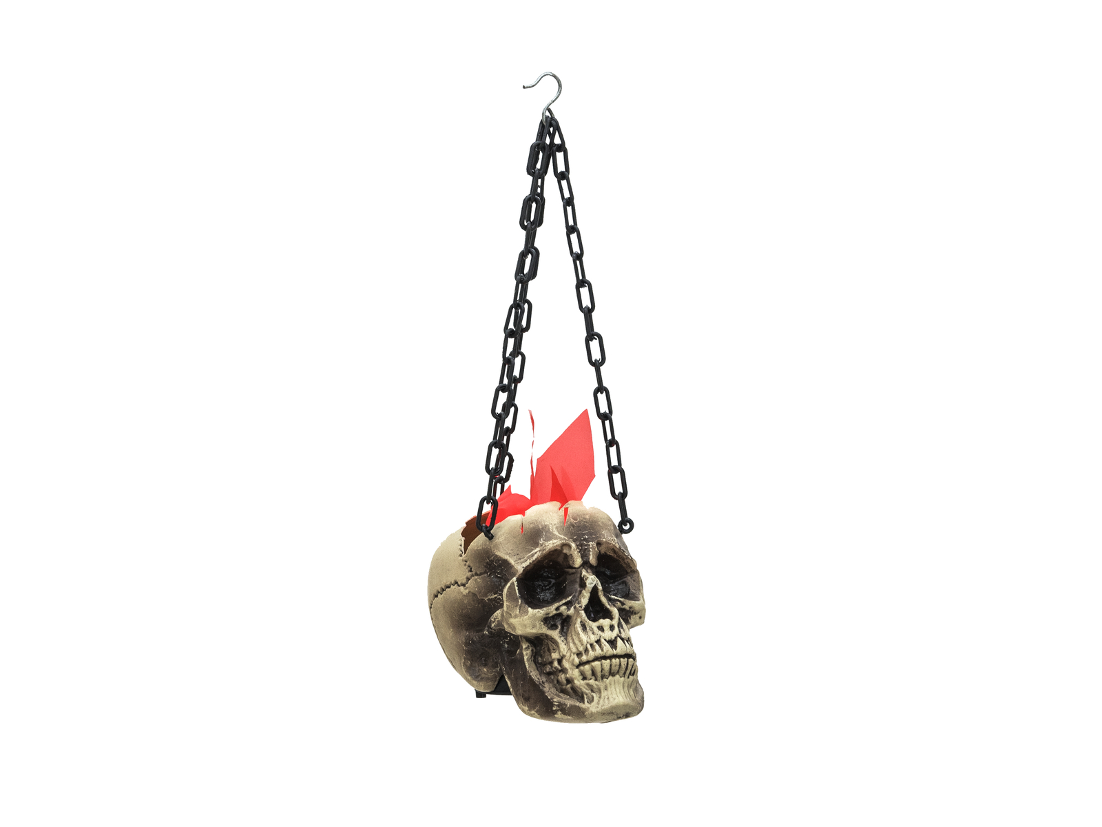 EUROPALMS Halloween Flaming Skull, 45x21x15cm