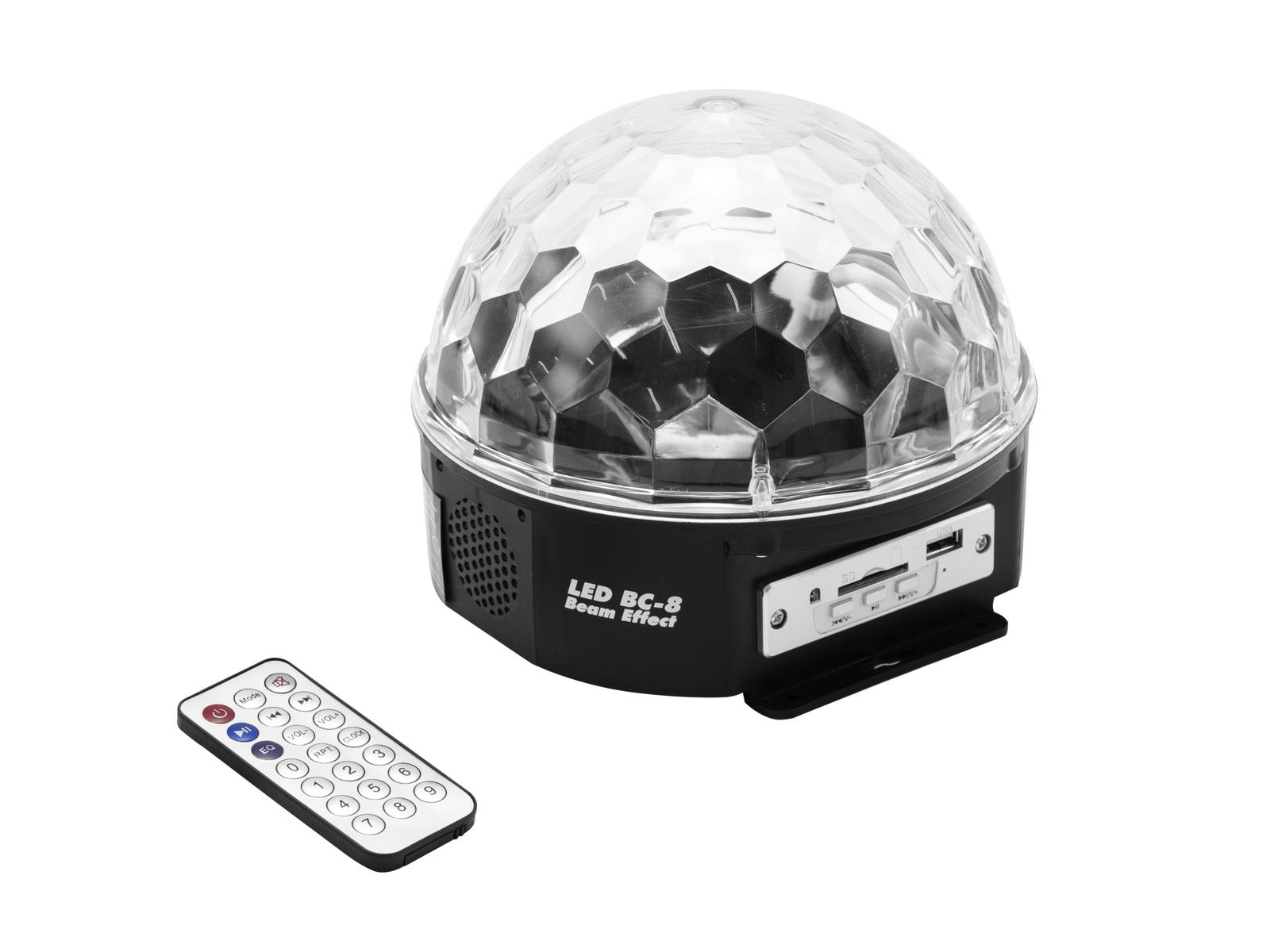 Effetto luce Light per Dj Mini ball a led DMX Eurolite MP3 Beam BC-8