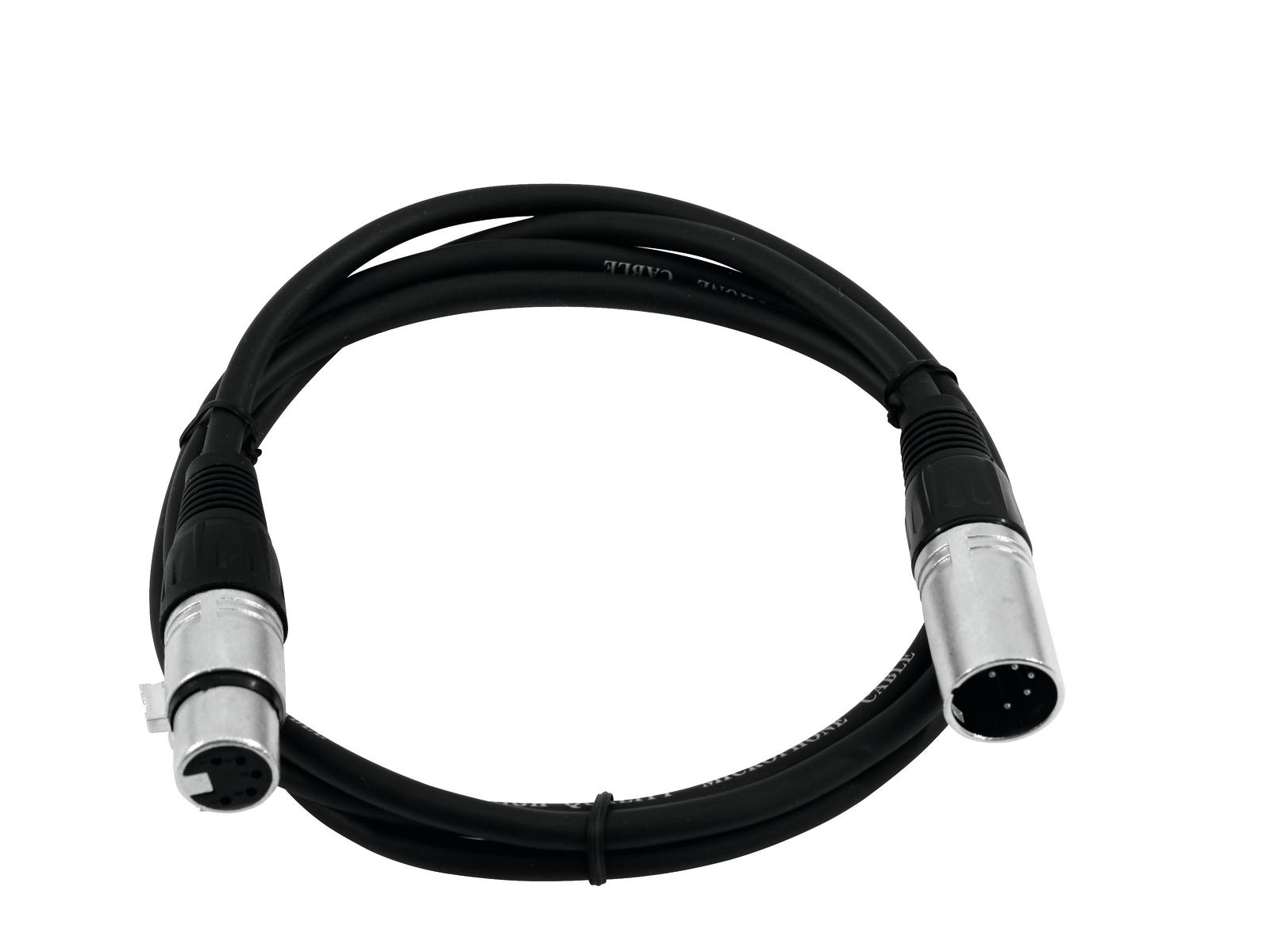 Cavo Audio XLR Cannon 5 Pin M F 1,0 Mt Omnitronic