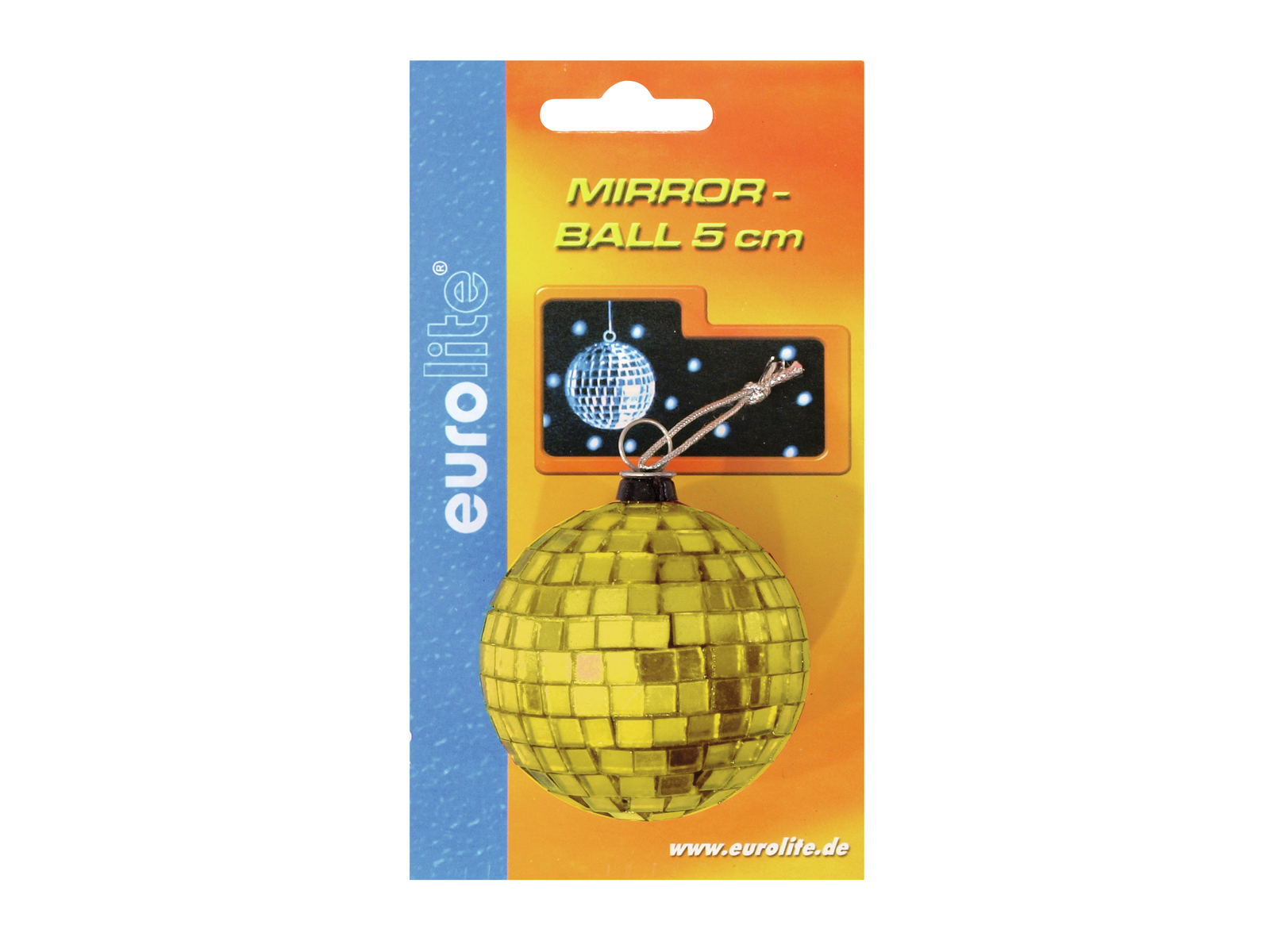 EUROLITE Mirror ball 5cm giallo